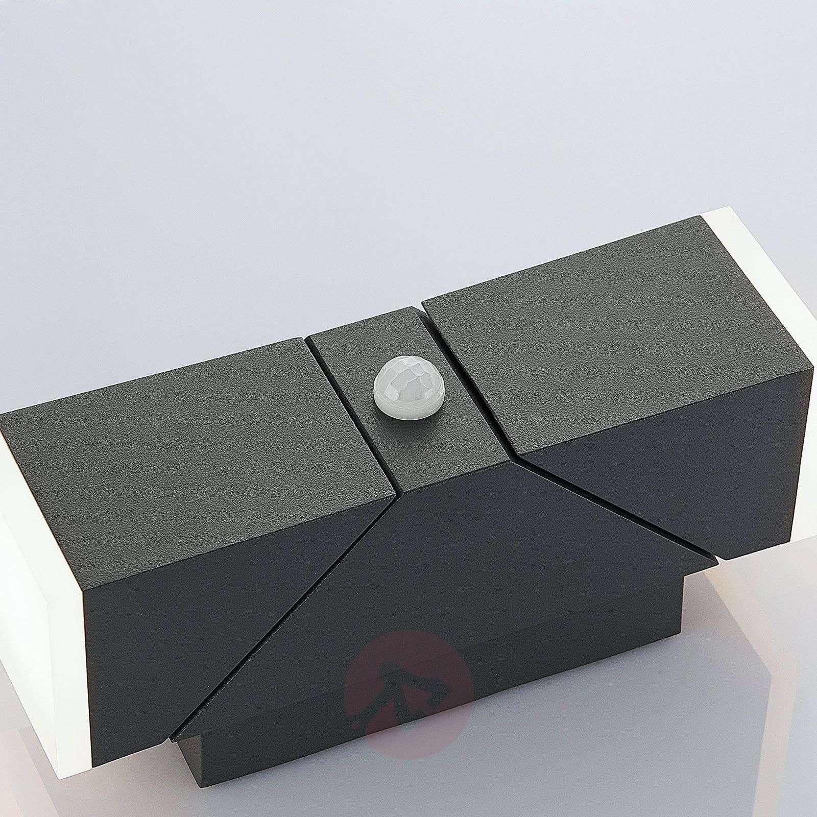 LED-ulkoseinävalaisin Sally, 2-lamppuinen, sensori-9932008-03