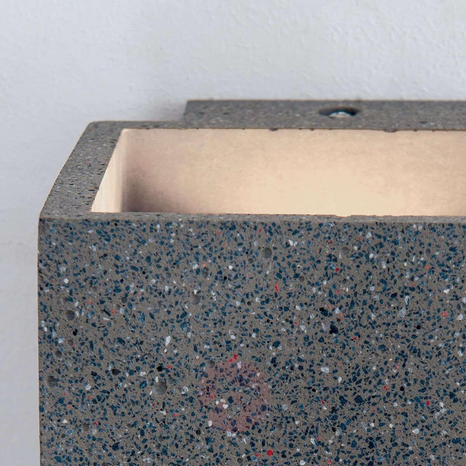 LED-ulkoseinävalaisin Sandro betonia, lämmin valk.-7255339-01