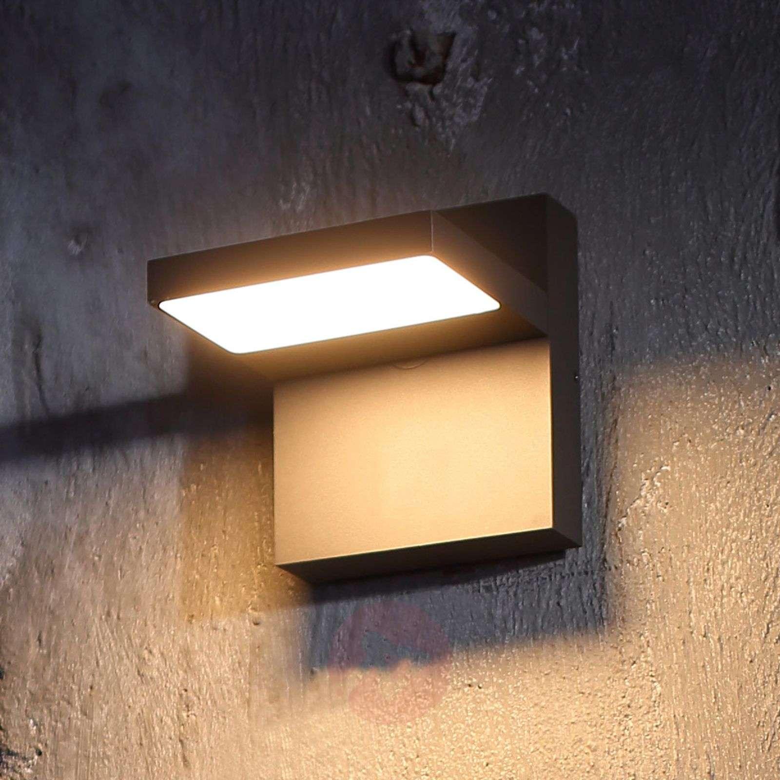 LED-ulkoseinävalaisin Silvan, tummanharmaa-9619173-02