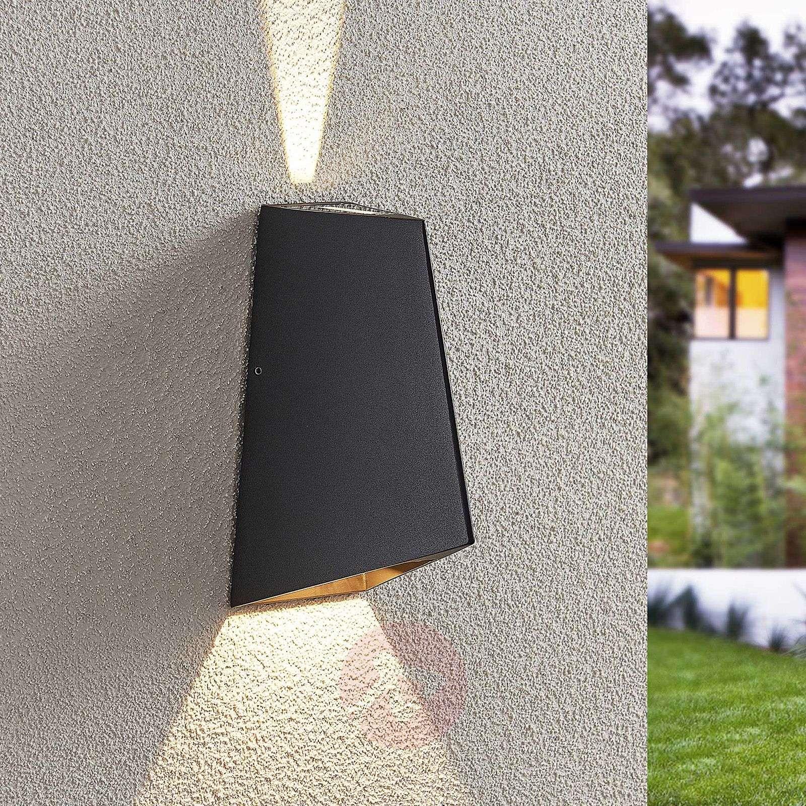 LED-ulkoseinävalaisin Tjomme, tummanharmaa-9969106-02