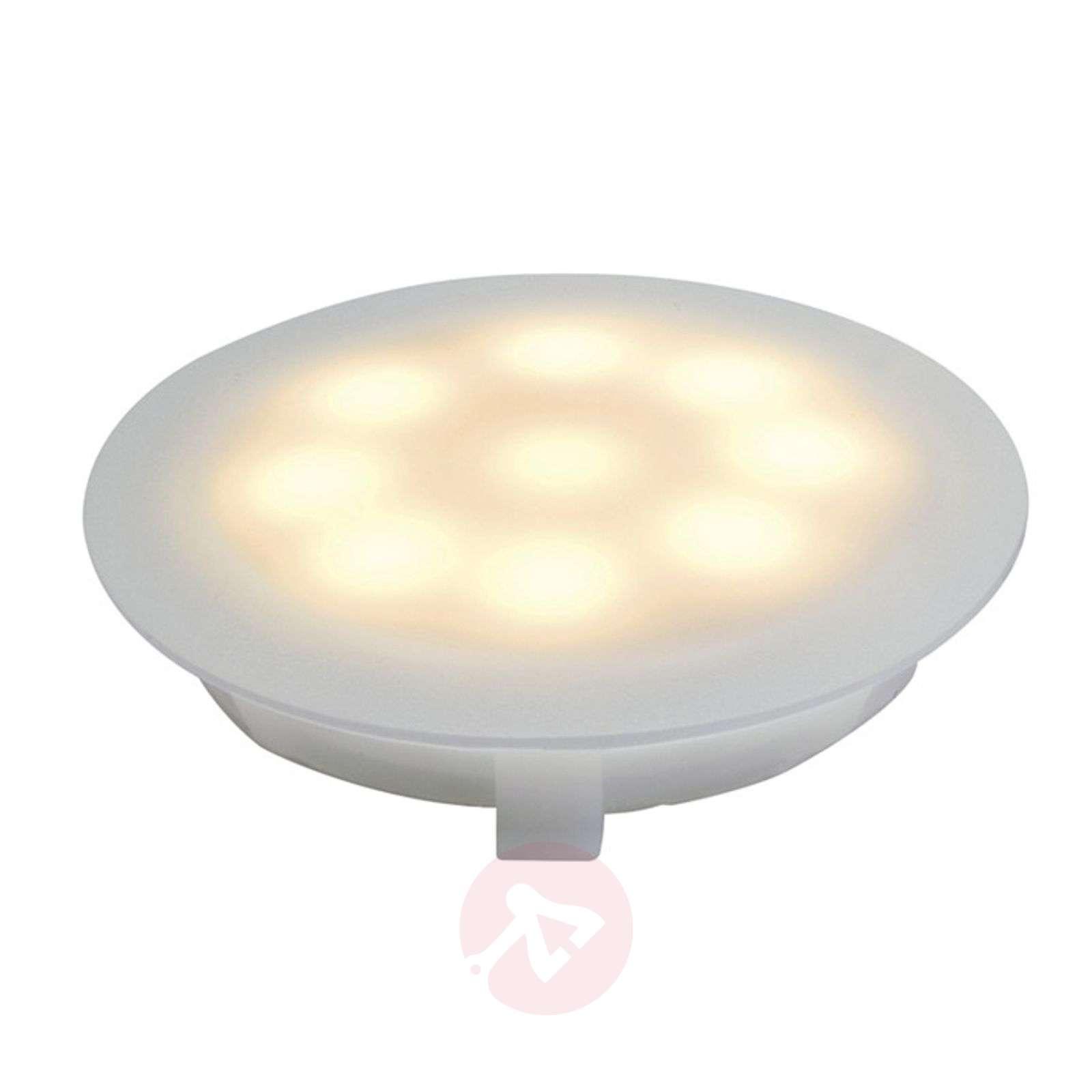 LED-uppokohdevalaisin satinoitu 1x1W lämmin valk.-7600512-01