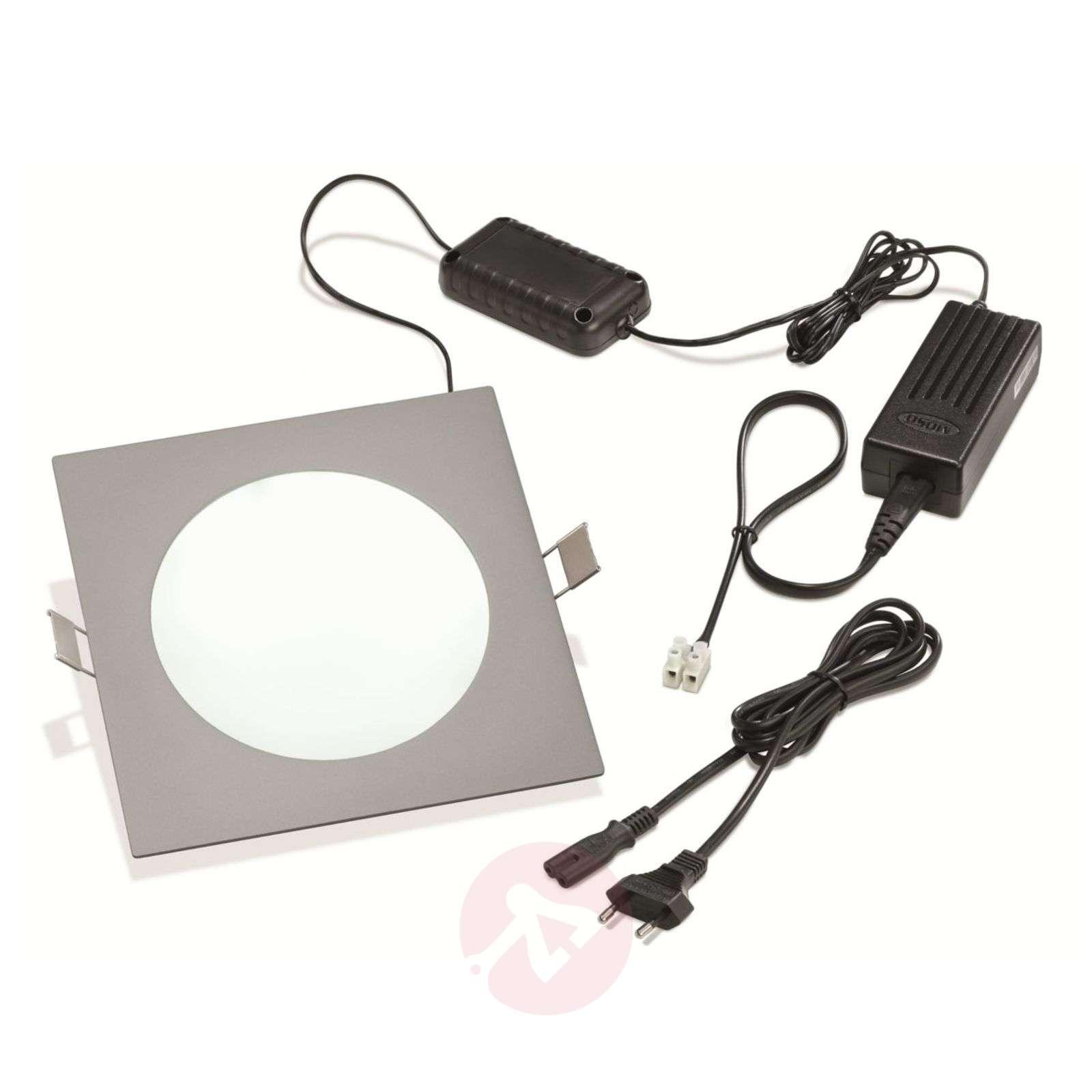 LED-uppovalaisin PRINCE, nelikulmainen 11 W-3012182X-01