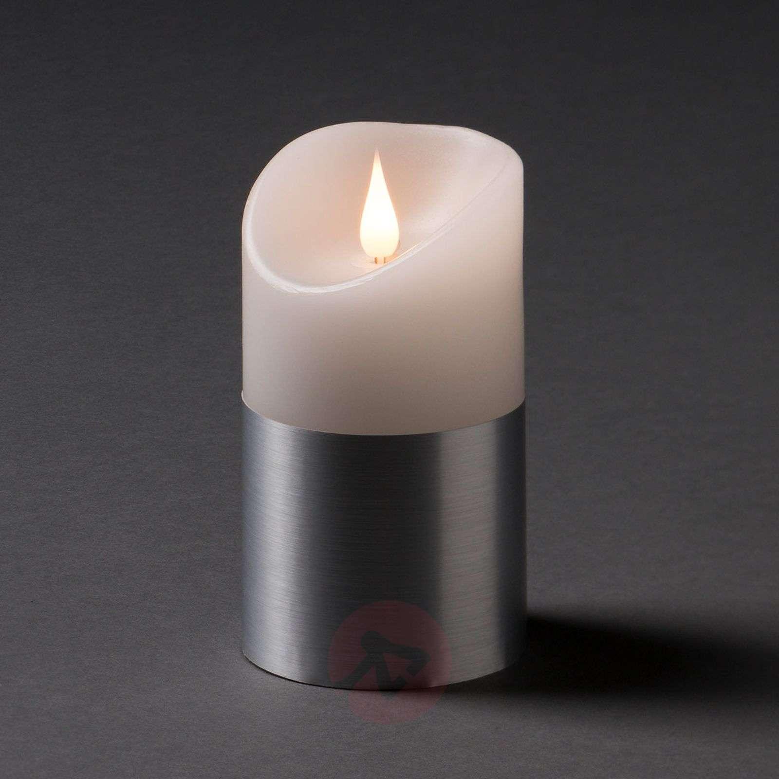 LED-vahakynttilä hopeisella banderollilla-5524852X-01