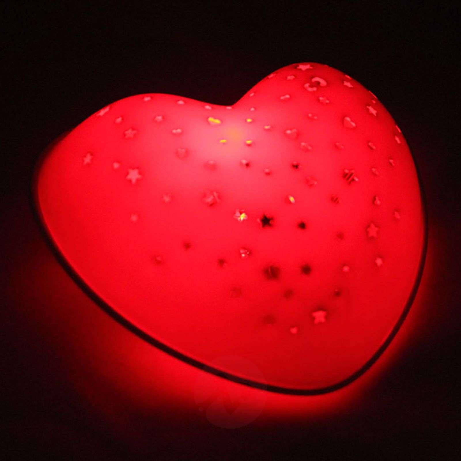 LED-yövalo Solar Heart-5400234-01