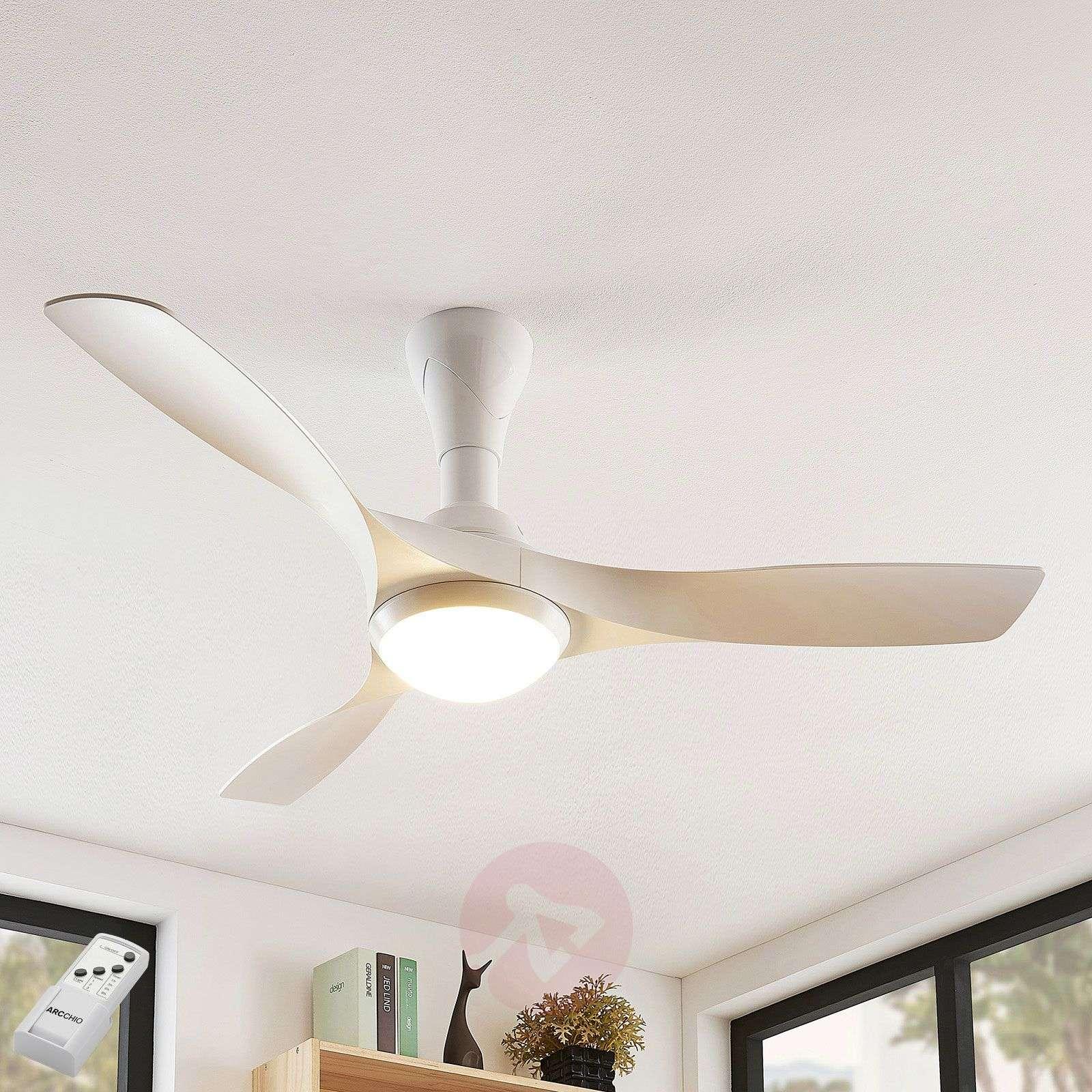 Lindby Borga LED-kattotuuletin, 3 siipeä, valk.-9624670-02