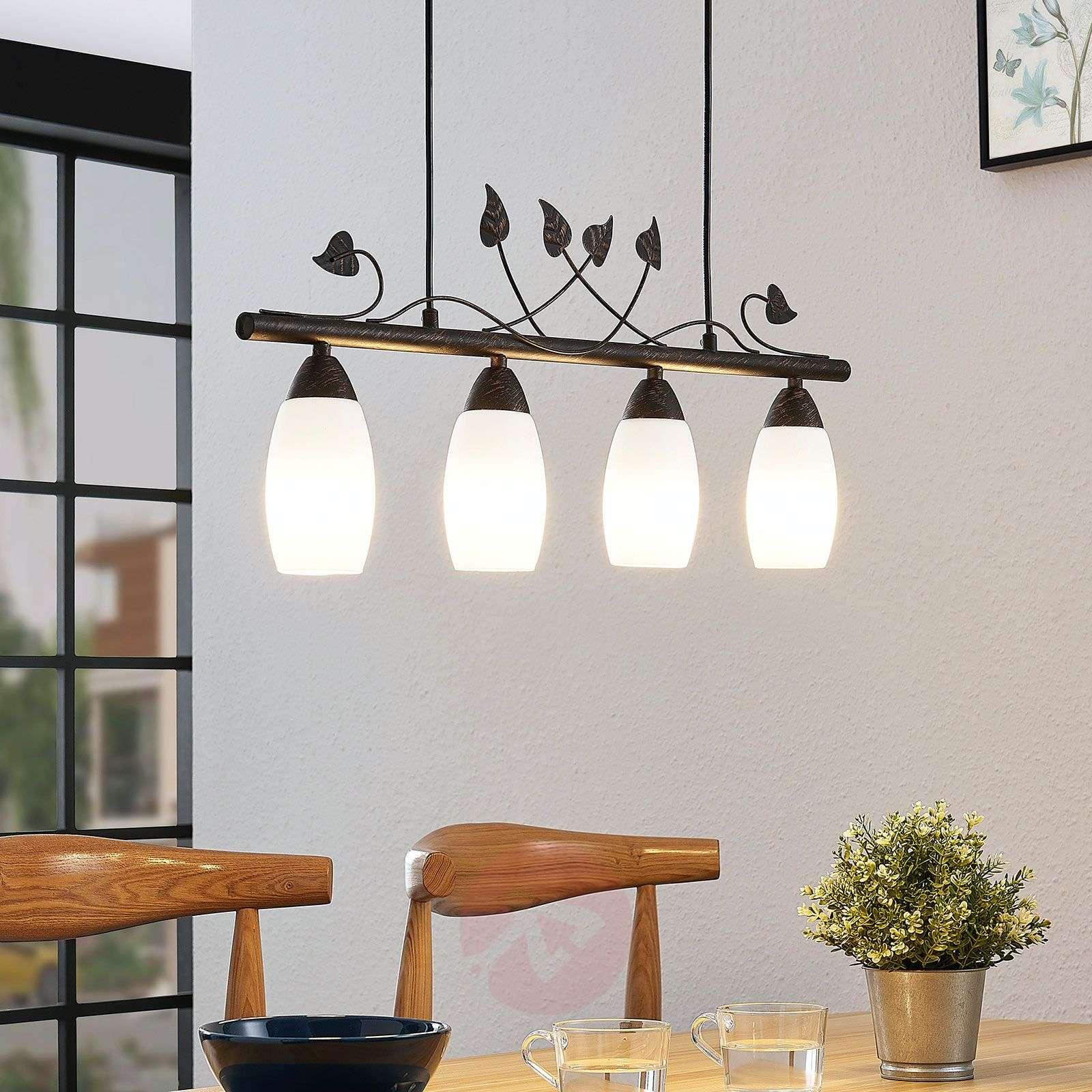 Lindby Isalie LED-tankoriippuvalaisin,4-lamppuinen-9624652-02