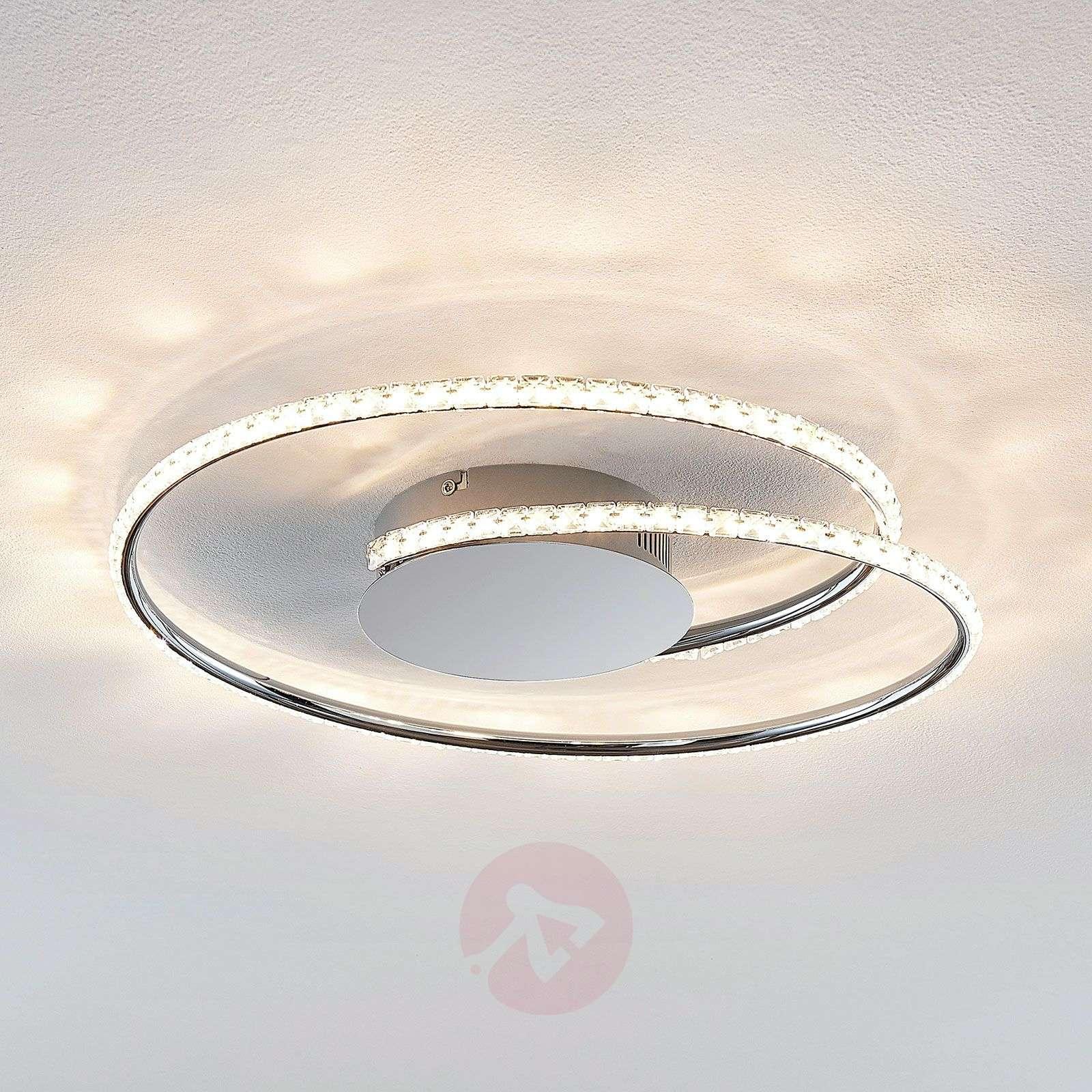 Lindby Joline LED-kattovalaisin, kristalli, 45 cm-9639132-02