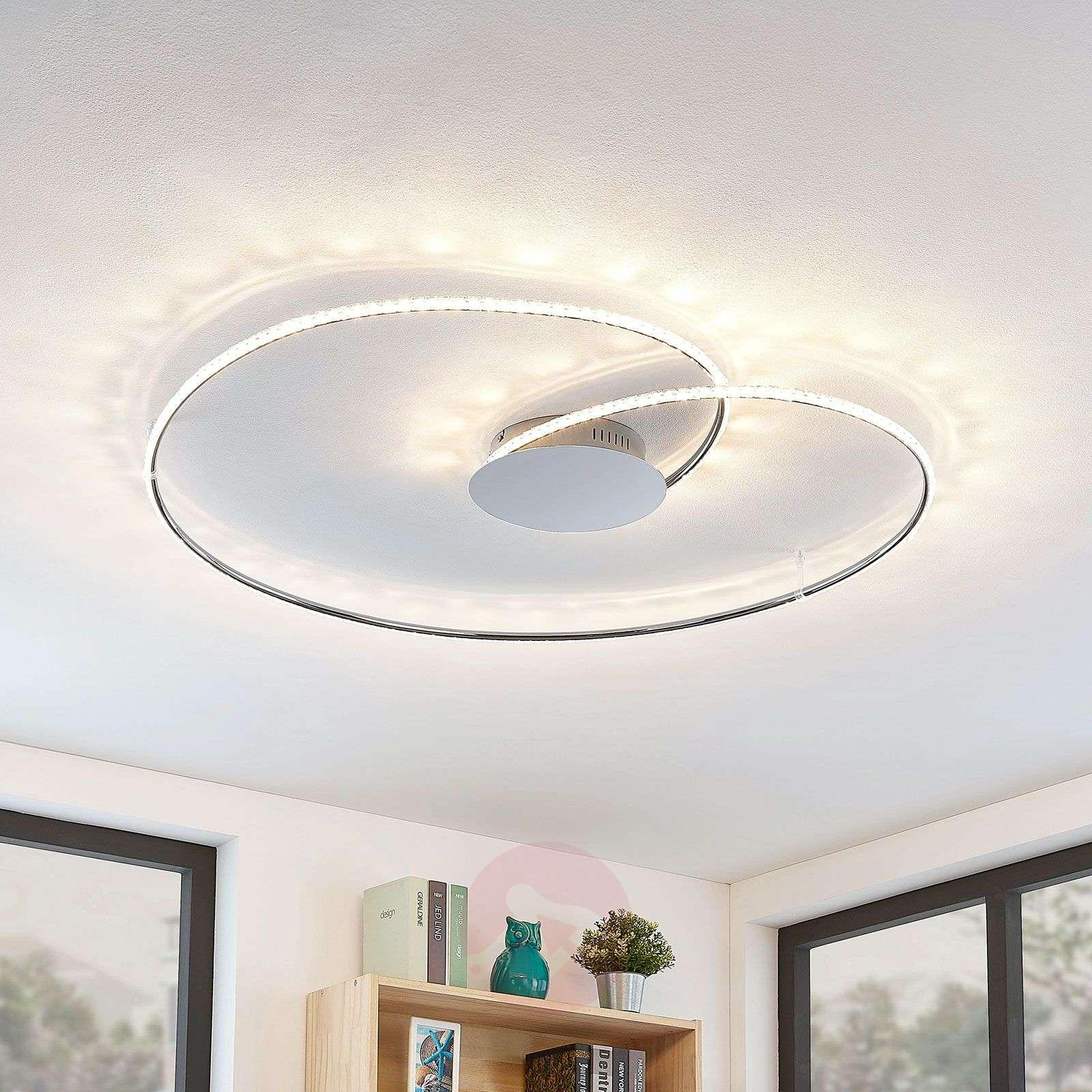 Lindby Joline LED-kattovalaisin, kristalli, 90 cm