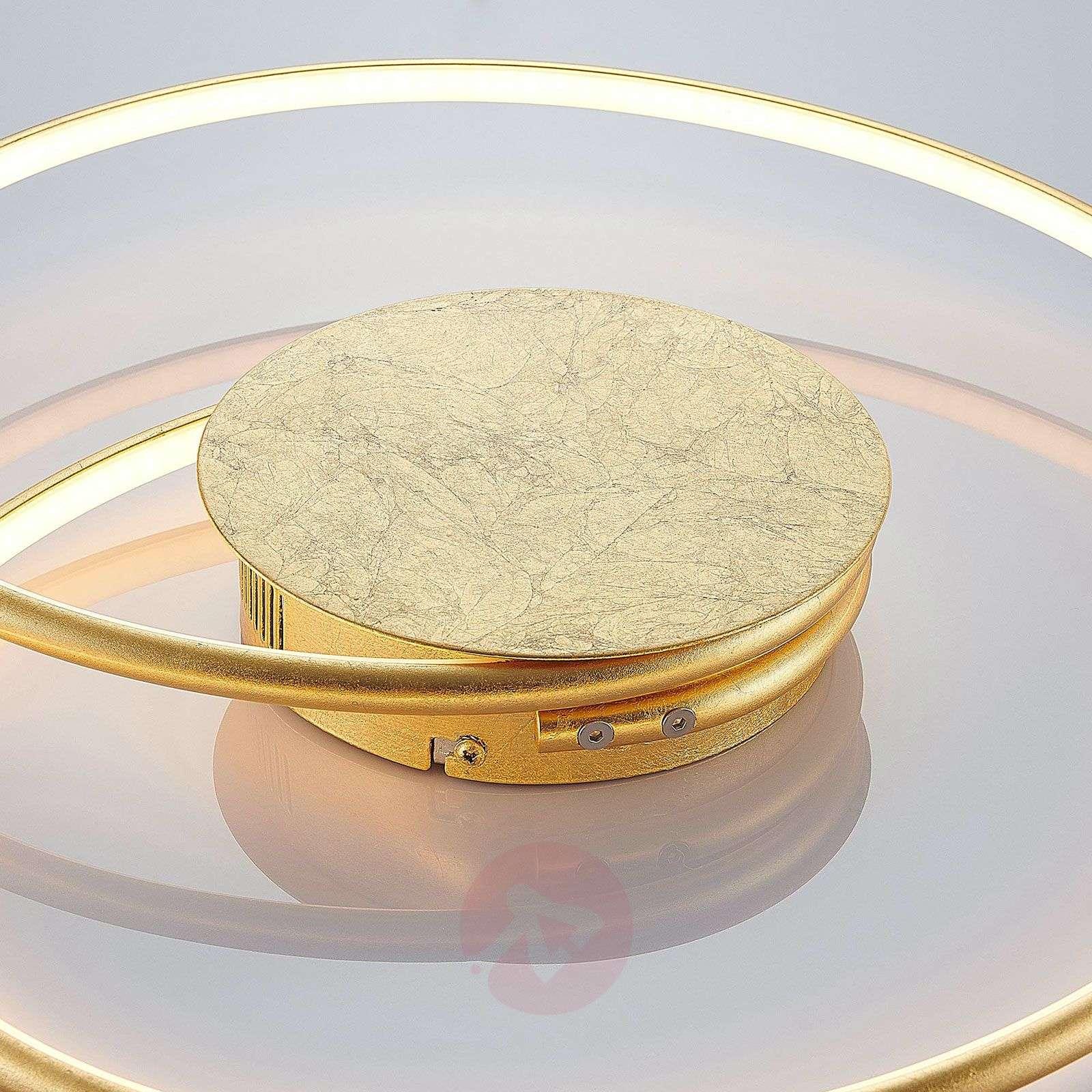 Lindby Joline LED-kattovalaisin, kulta, 45 cm-9639129-02