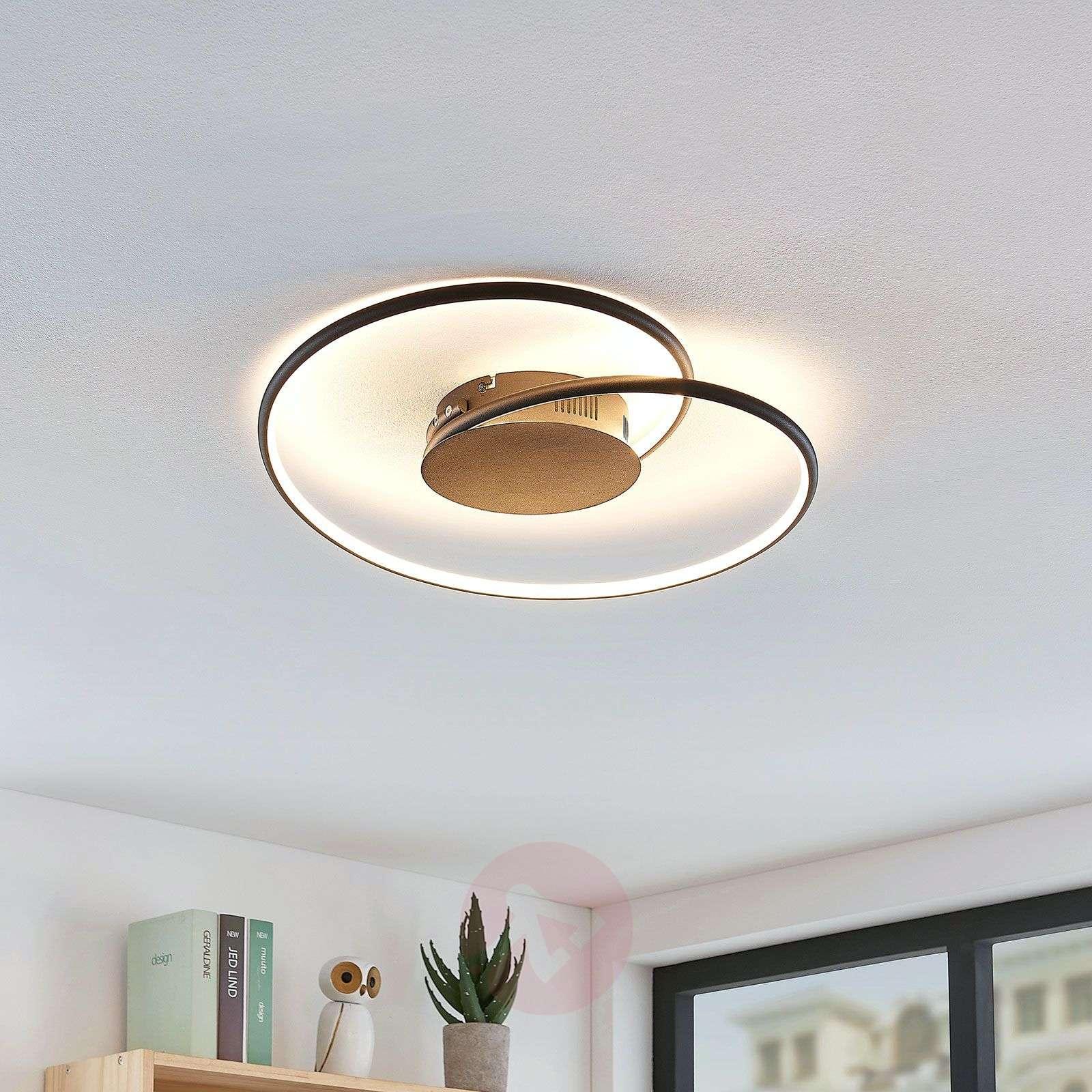 Lindby Joline LED-kattovalaisin, musta, 45 cm-9639130-02