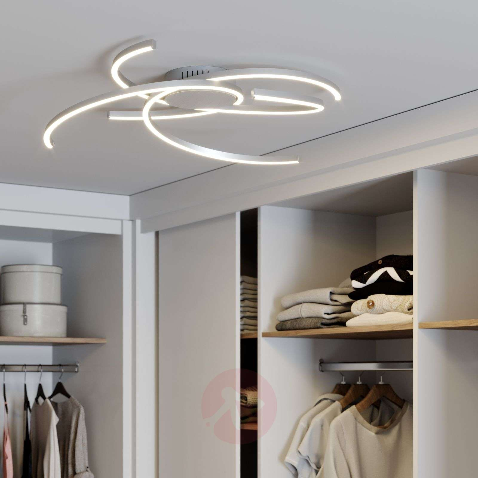 Lindby Katris LED-kattovalaisin, 73 cm, alumiini-9639151-02