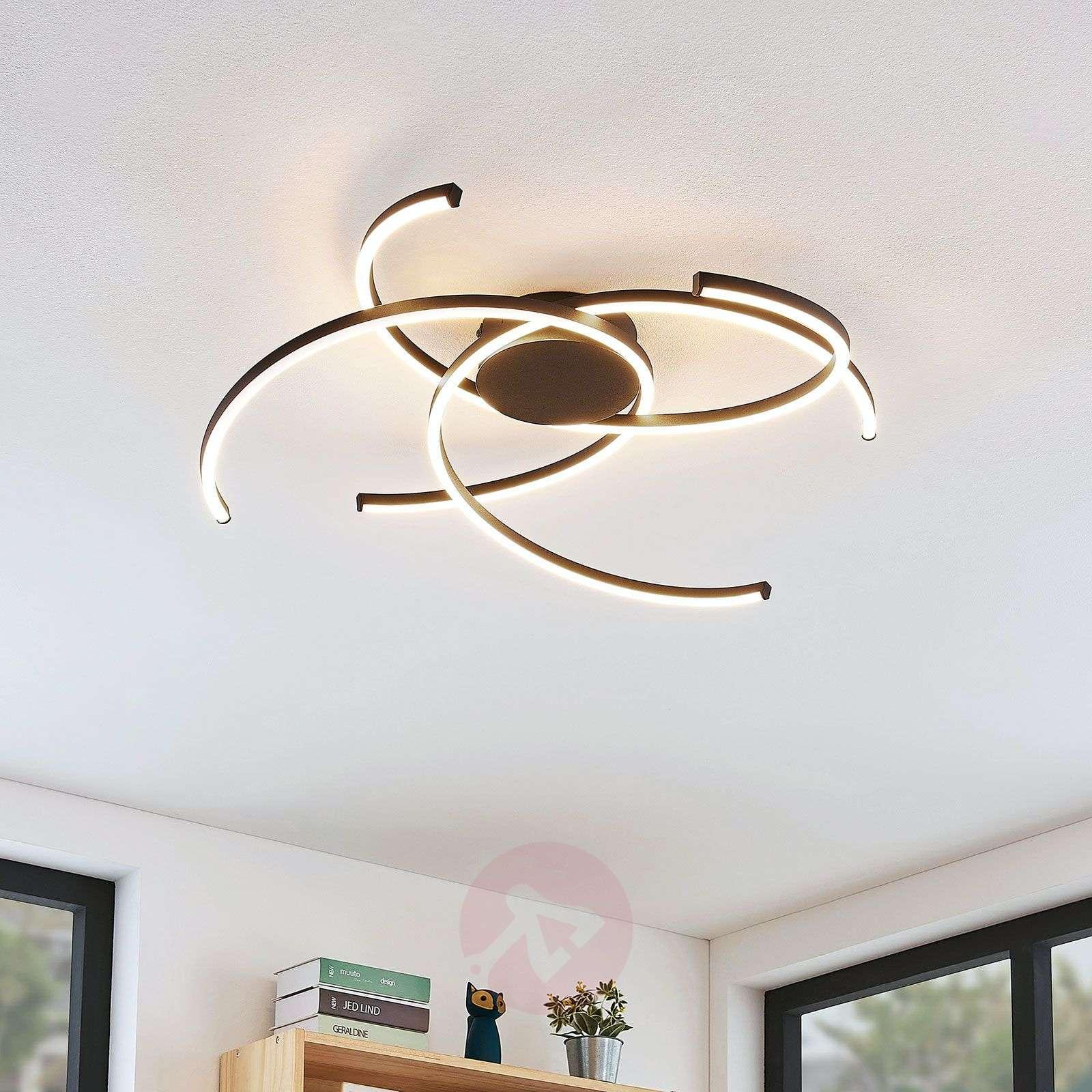 Lindby Katris LED-kattovalaisin, 73 cm, musta-9639155-02