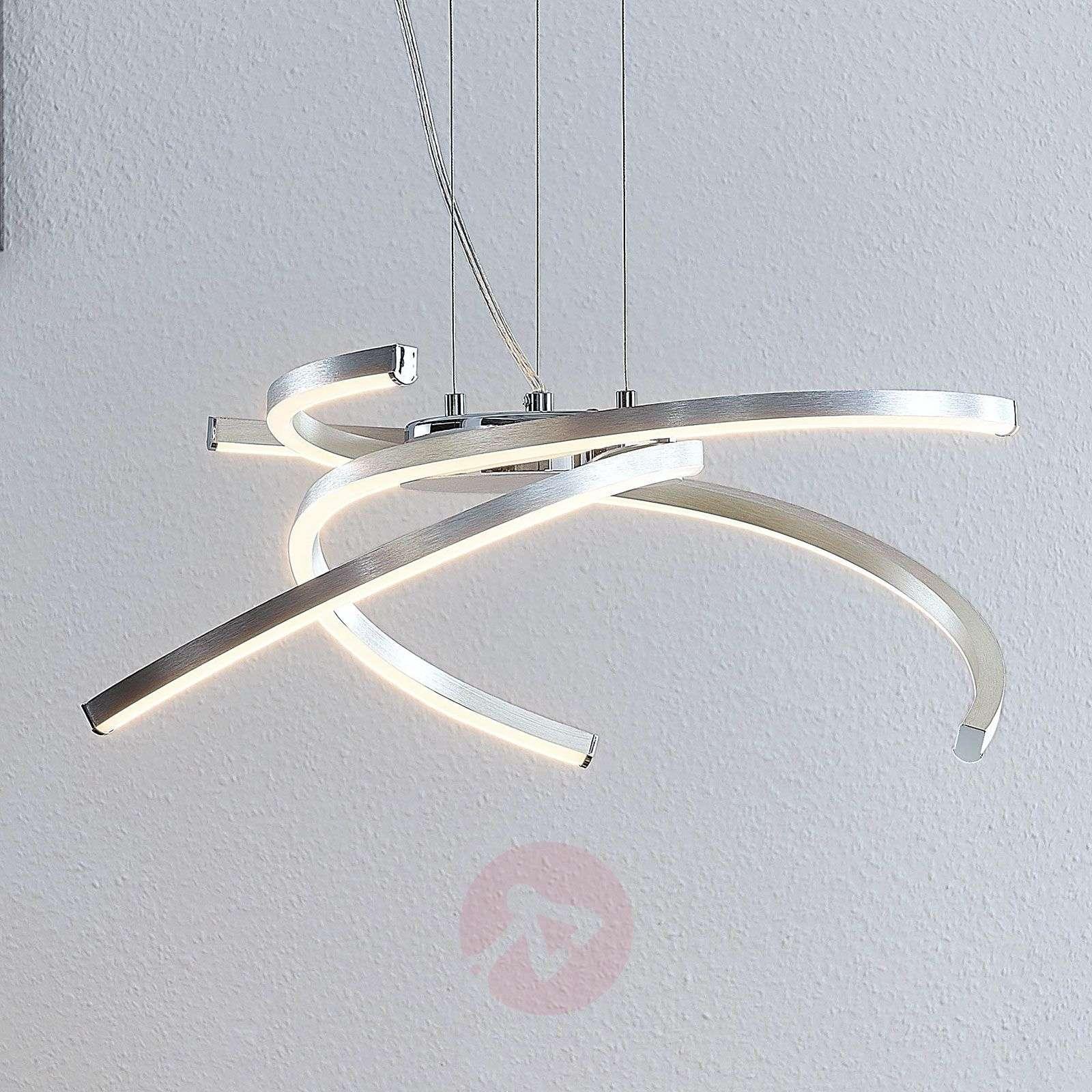 Lindby Katris LED-riippuvalaisin, 58 cm, alumiini-9639152-02