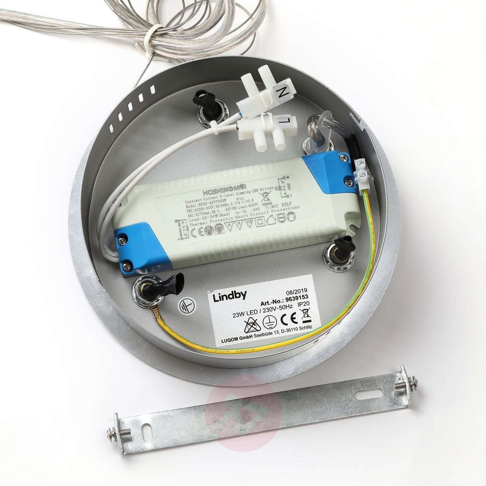 Lindby Katris LED-riippuvalaisin, 73 cm, alumiini-9639153-02
