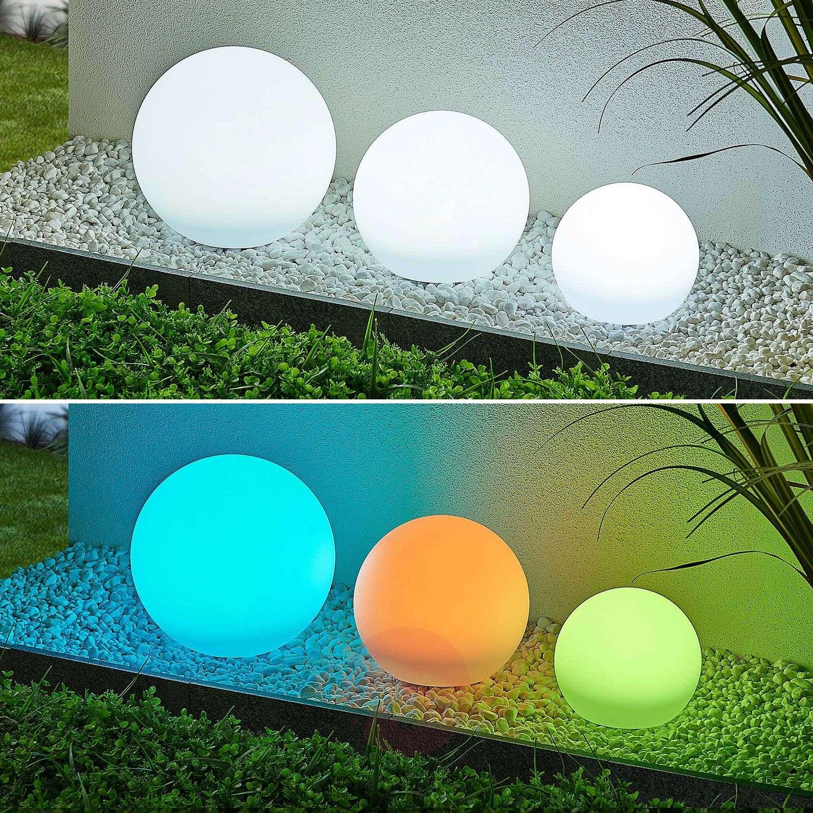 Lindby Lago LED-aurinkokennovalaisin RGBW 3 palloa-4018237-02