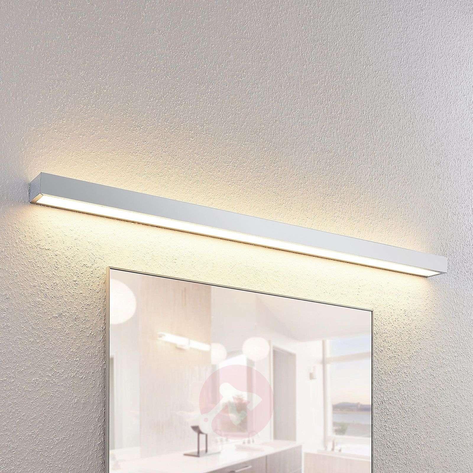 Lindby Layan LED-kylpyhuonevalaisin, kromi, 120 cm-9641112-02