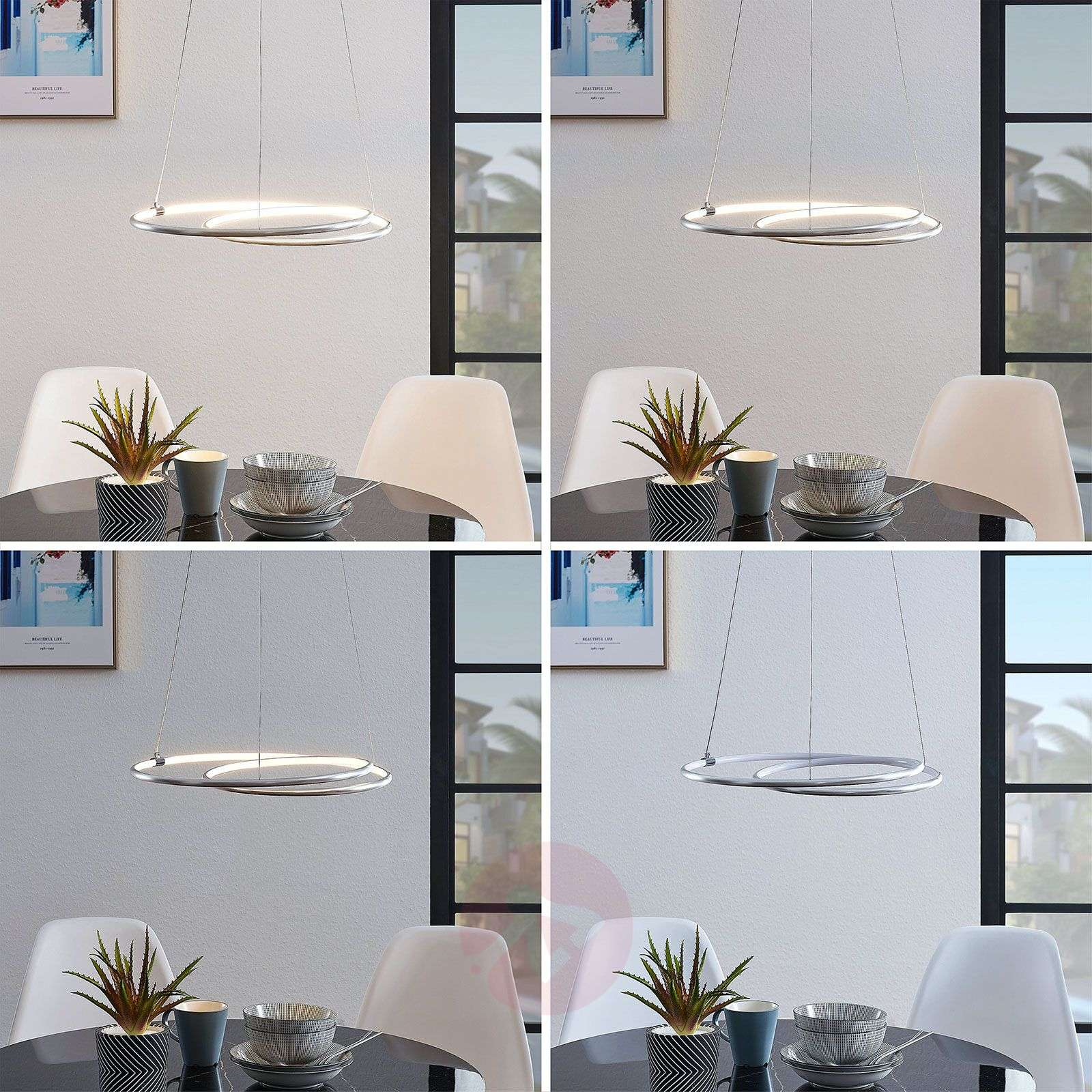 Lindby Lucy LED-riippuvalaisin, 45 cm, alumiini