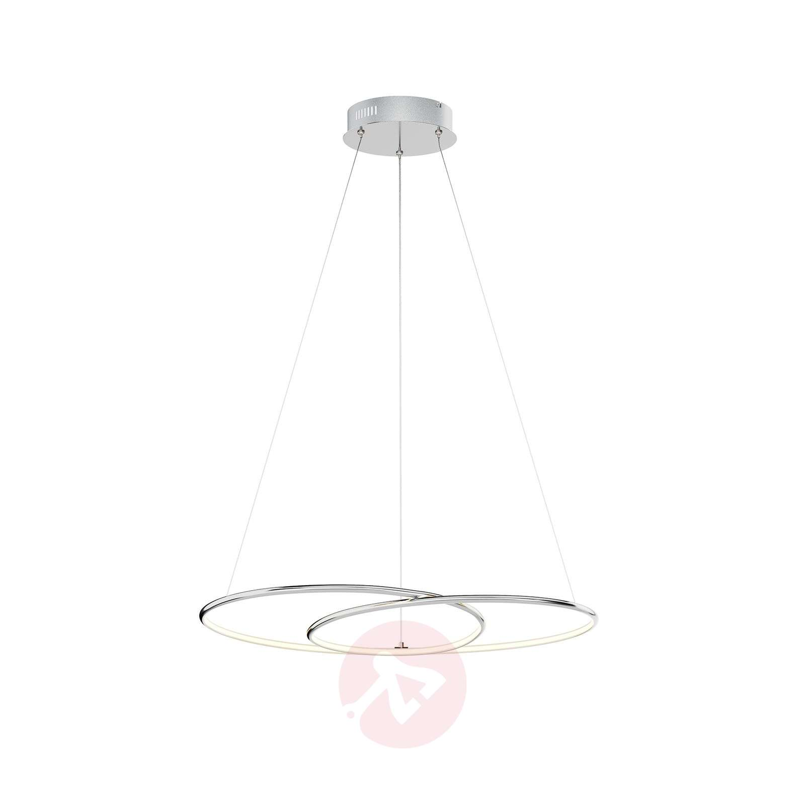Lindby Lucy LED-riippuvalaisin, 70 cm, kromi-9639142-02