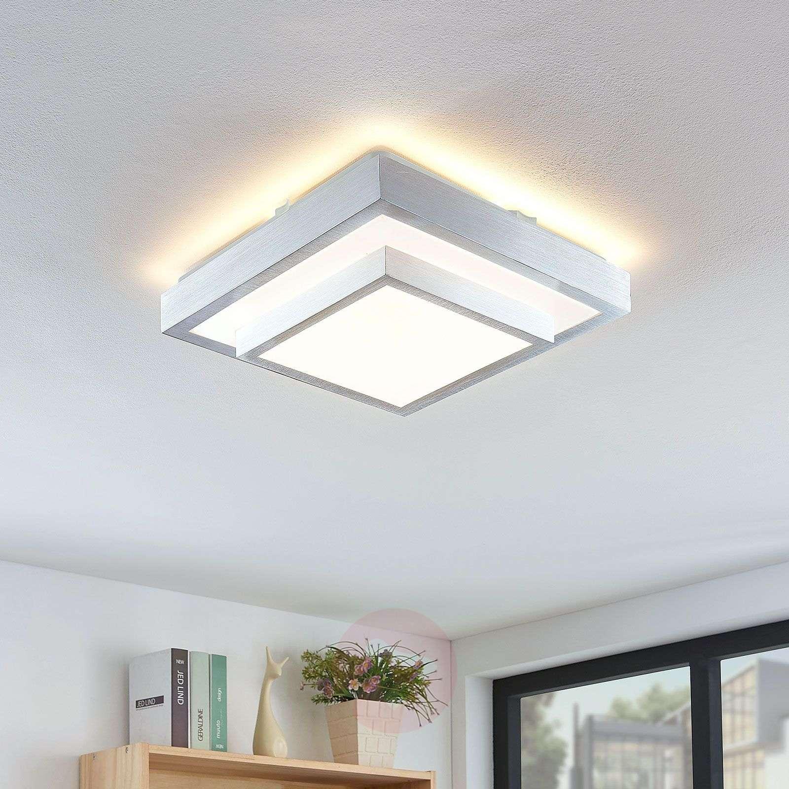 Lindby Mirco LED-kattovalaisin kulmikas, 32 cm-9624955-02