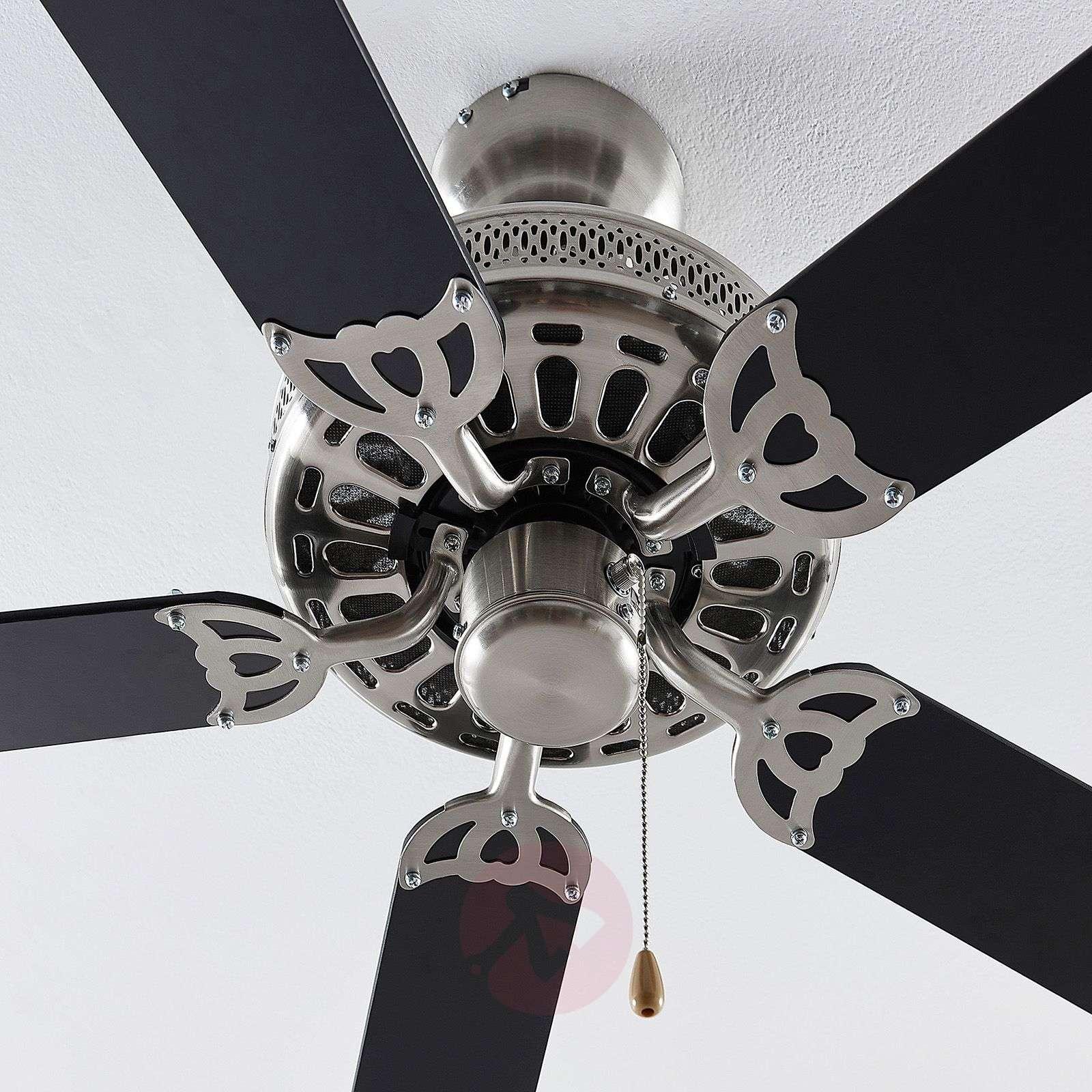 Lindby Rohne-kattotuuletin, matta nikkelipinta-4018244-02