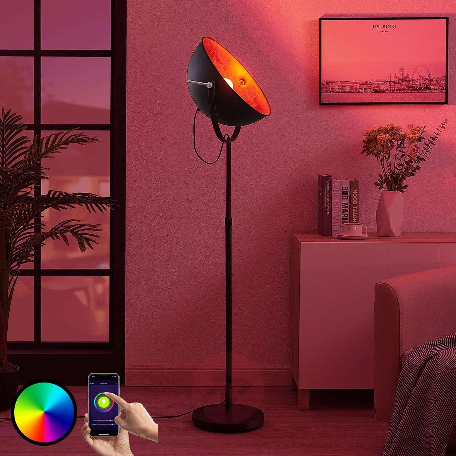 Lindby Smart lattiavalaisin Muriel 1-lampp. hopea-9624229-02