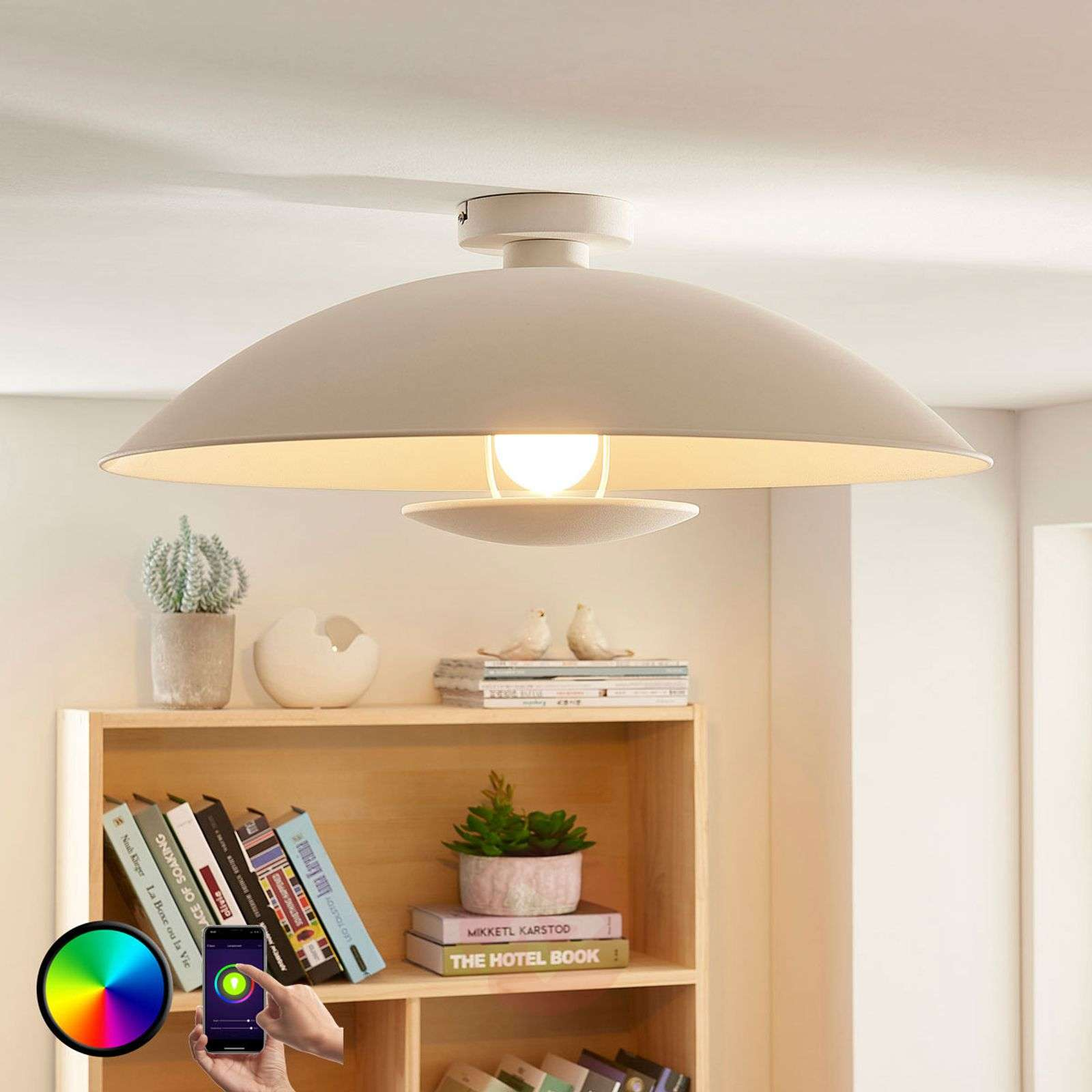 Lindby Smart LED-kattovalaisin Arthur, E27 RGB-9624097-02