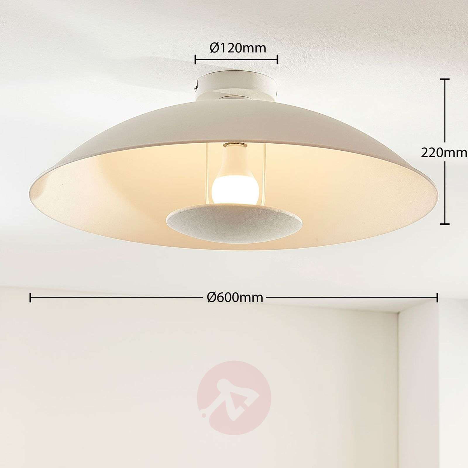 Lindby Smart LED-kattovalaisin Arthur, E27 RGB-9624097-02