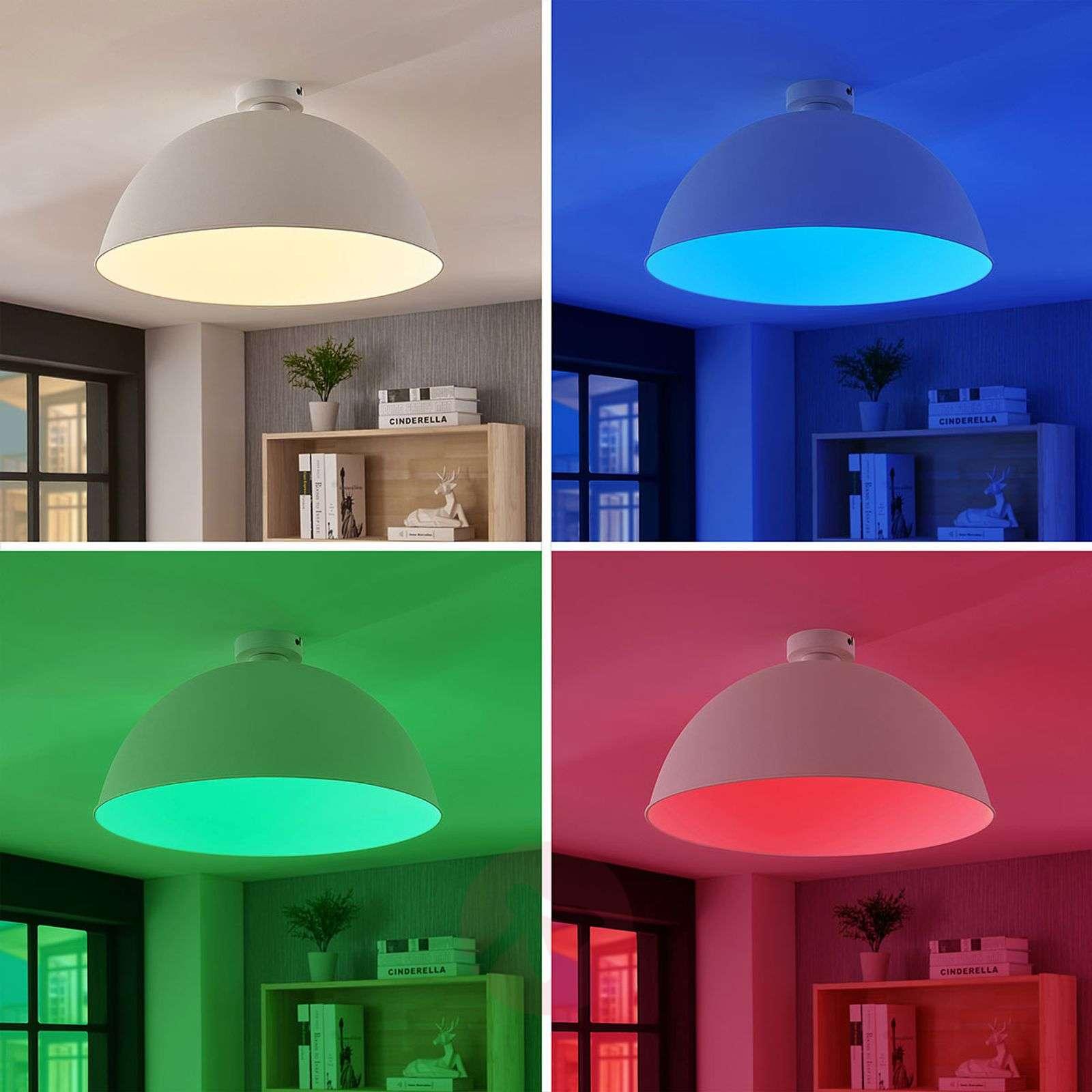 Lindby Smart LED-kattovalaisin Bowl 51 cm valk.-9624242-02