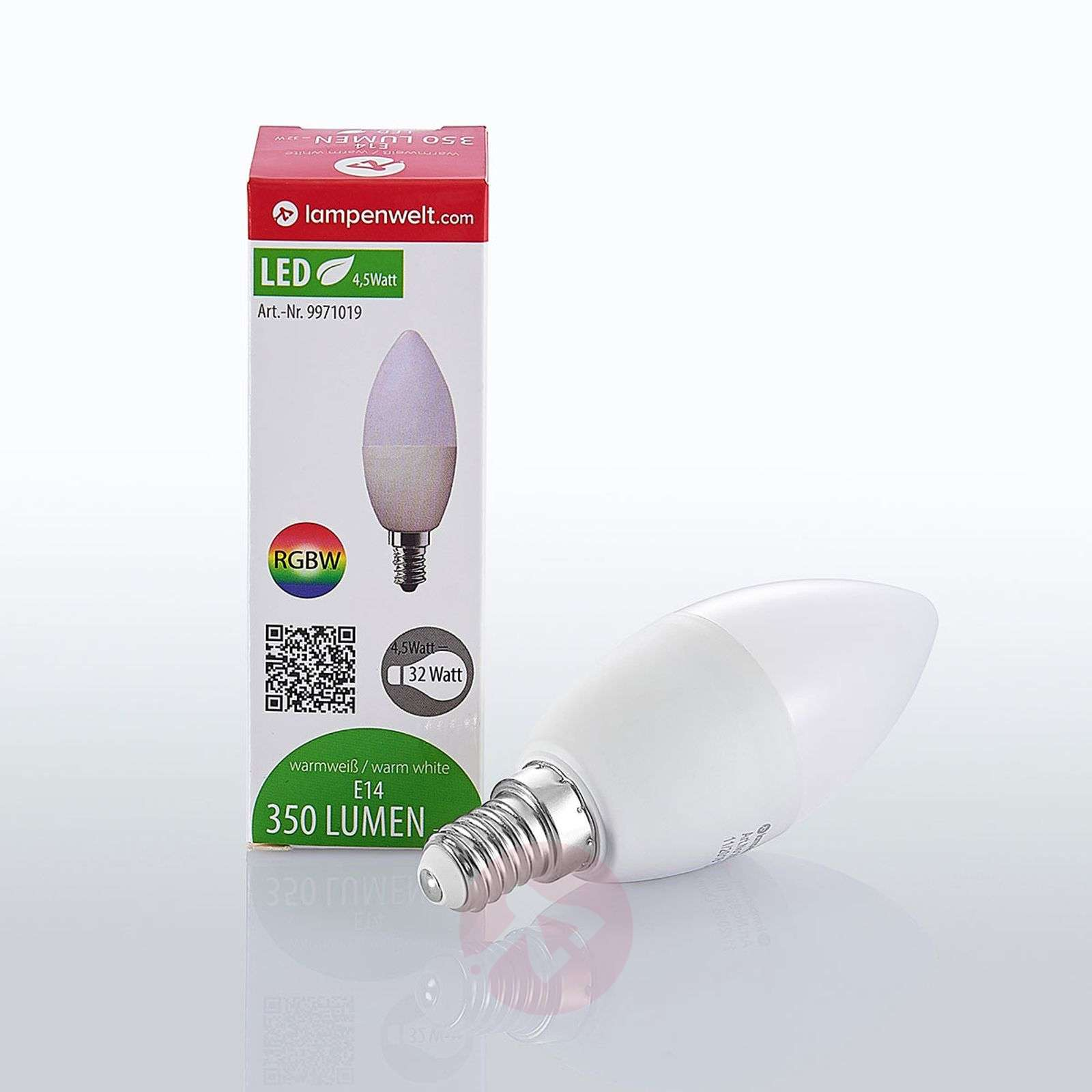 Lindby Smart LED-lamppu E14 4,5 W RGB kynttilä-9971019-02