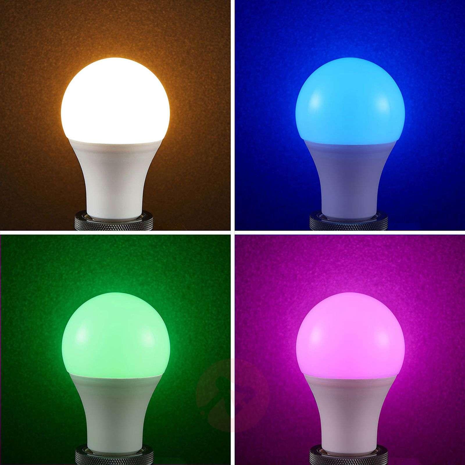 Lindby Smart LED-lamppu wifi E27 10W 2700K RGB-9971013-09