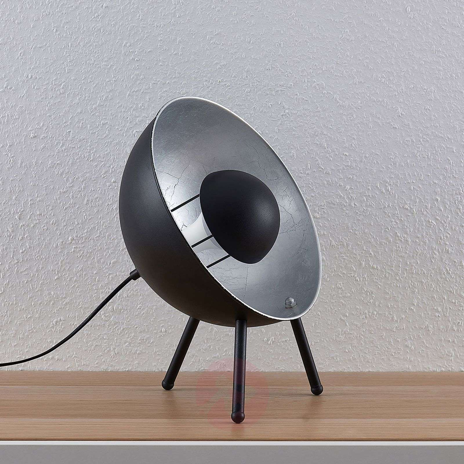 Lindby Smart LED-pöytävalaisin Muriel 38 cm, hopea-9624223-02
