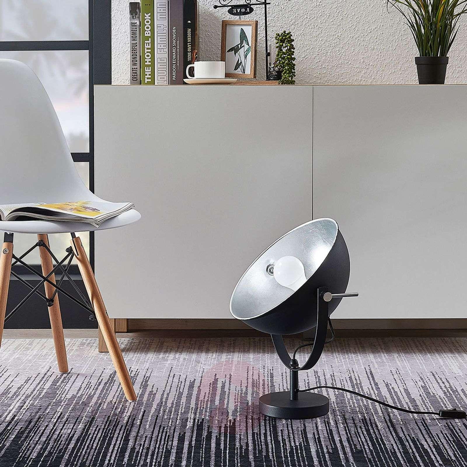 Lindby Smart LED-pöytävalaisin Muriel 44 cm, hopea-9624221-02