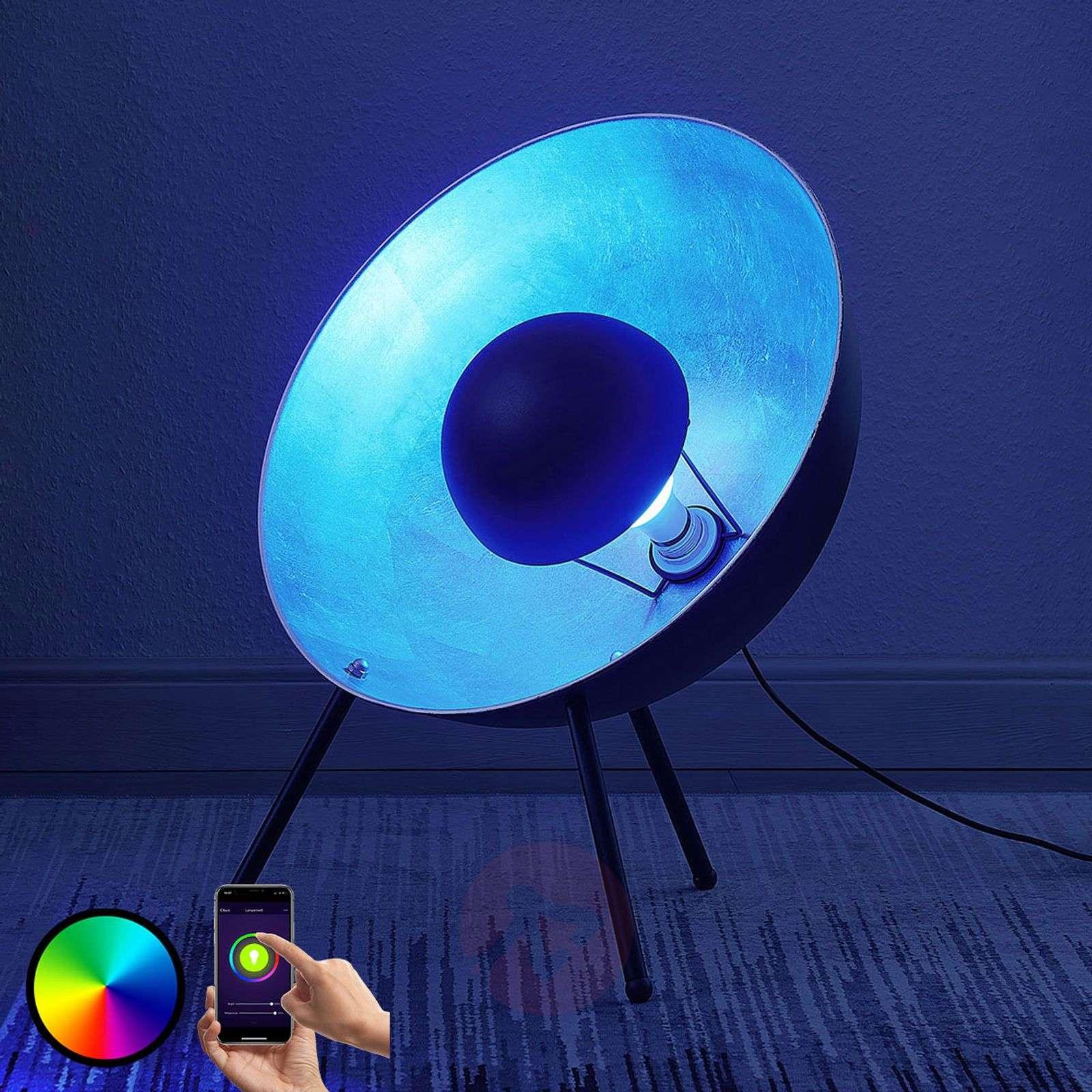 Lindby Smart LED-pöytävalaisin Muriel 60 cm, hopea