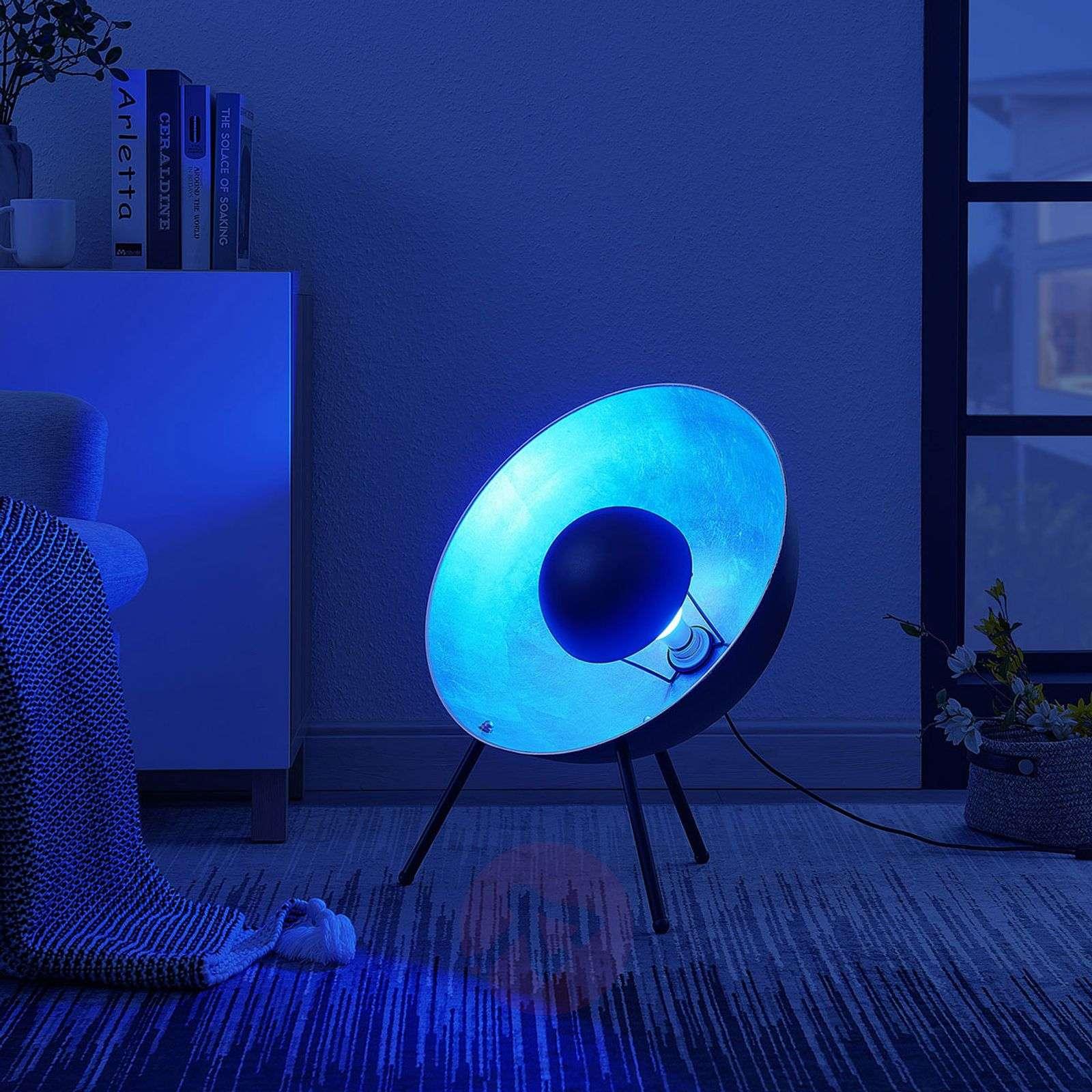 Lindby Smart LED-pöytävalaisin Muriel 60 cm, hopea-9624225-02