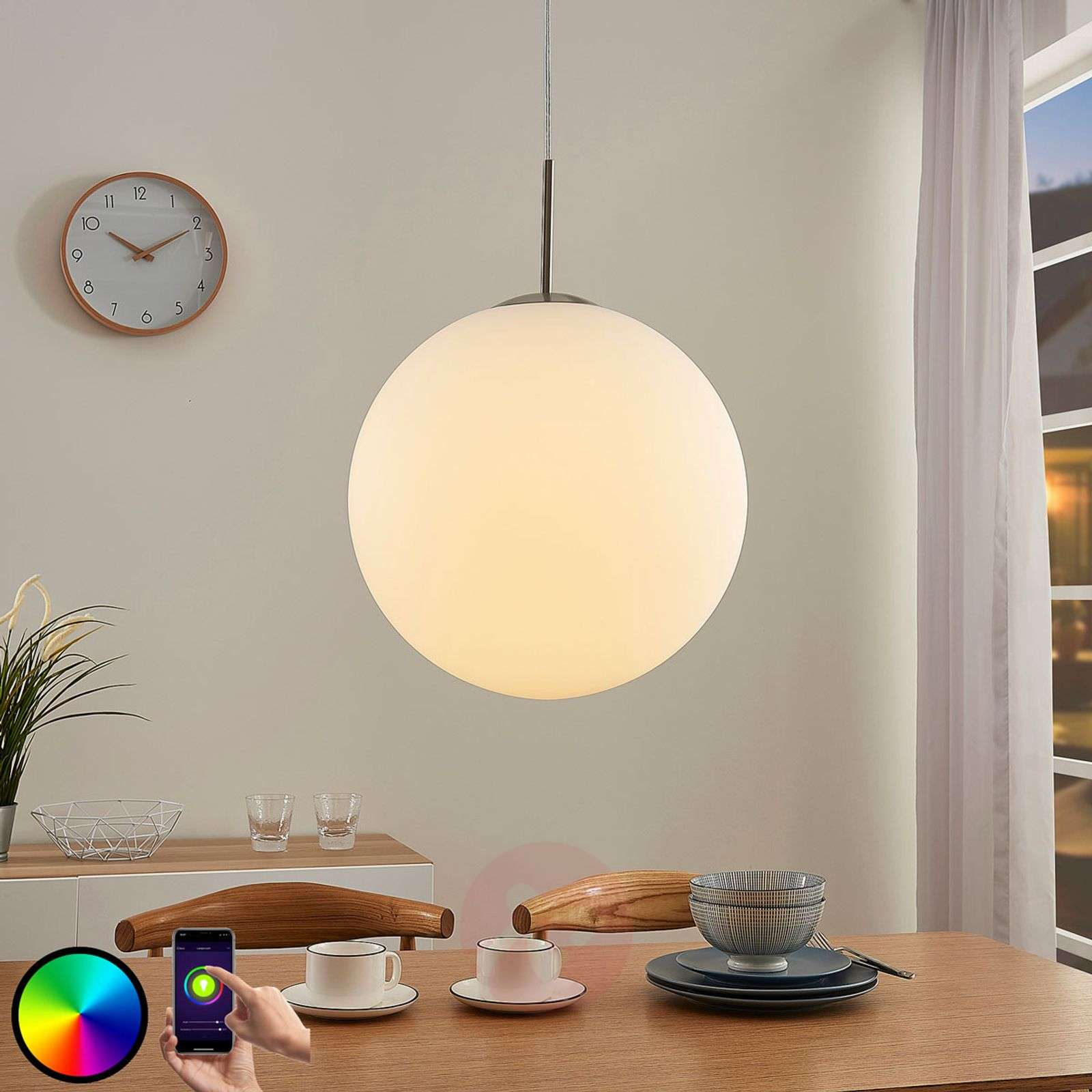 Lindby Smart LED-RGB-riippuvalaisin Rhona, app-9624113-020