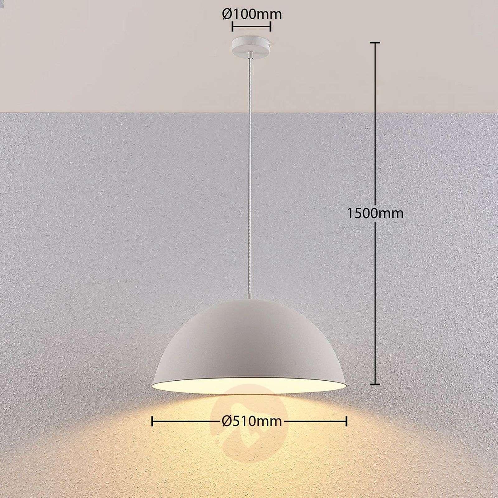 Lindby Smart LED-riippuvalaisin Bowl 51 cm valk.-9624248-02