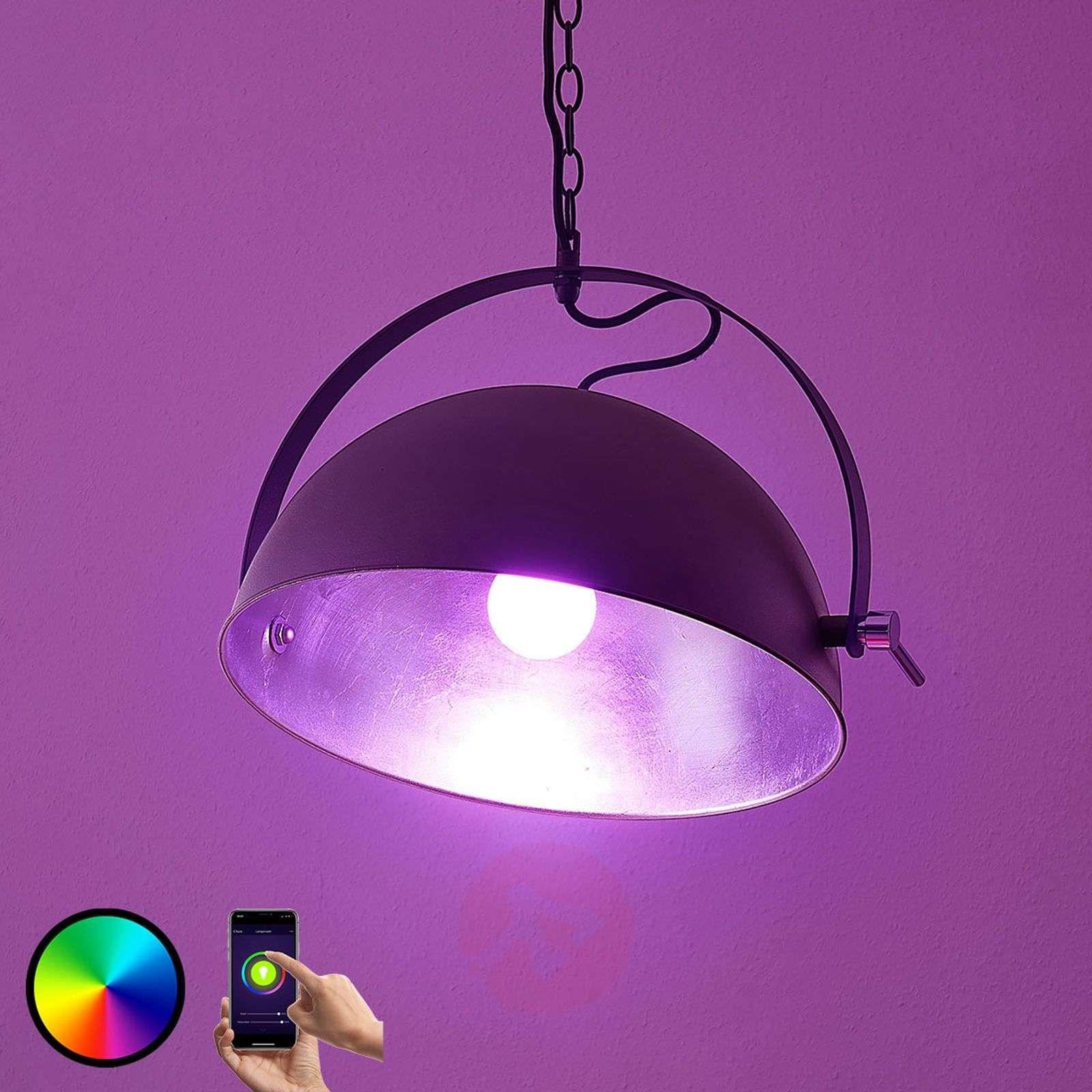 Lindby Smart LED-riippuvalaisin Muriel, hopea-9624233-02