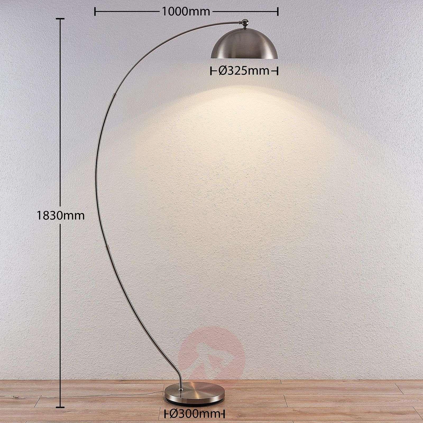 Lindby Zara LED-kaarivalaisin, jalassa himmennin-8032227-02