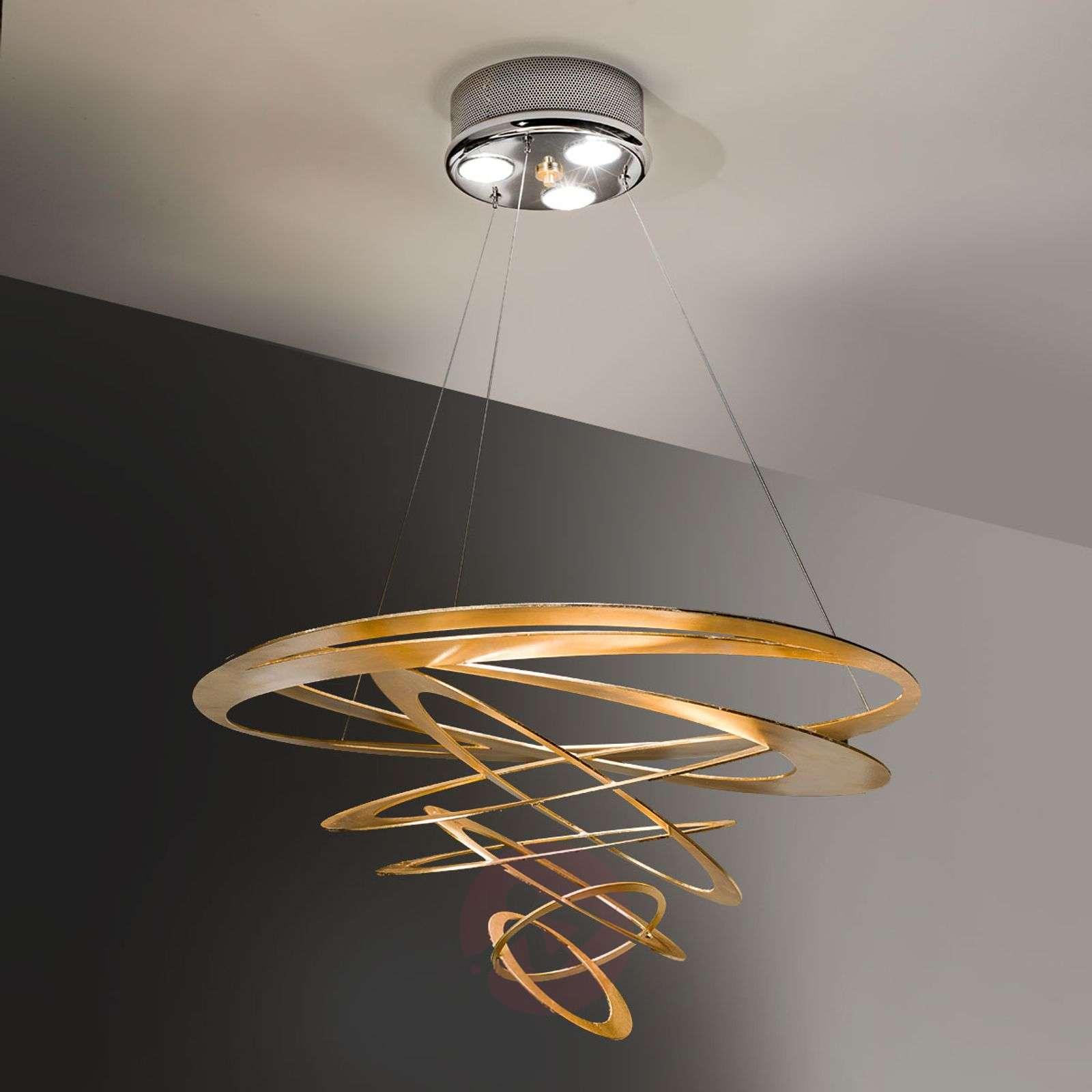 Loop design-riippuvalaisin, kulta-6532095-01