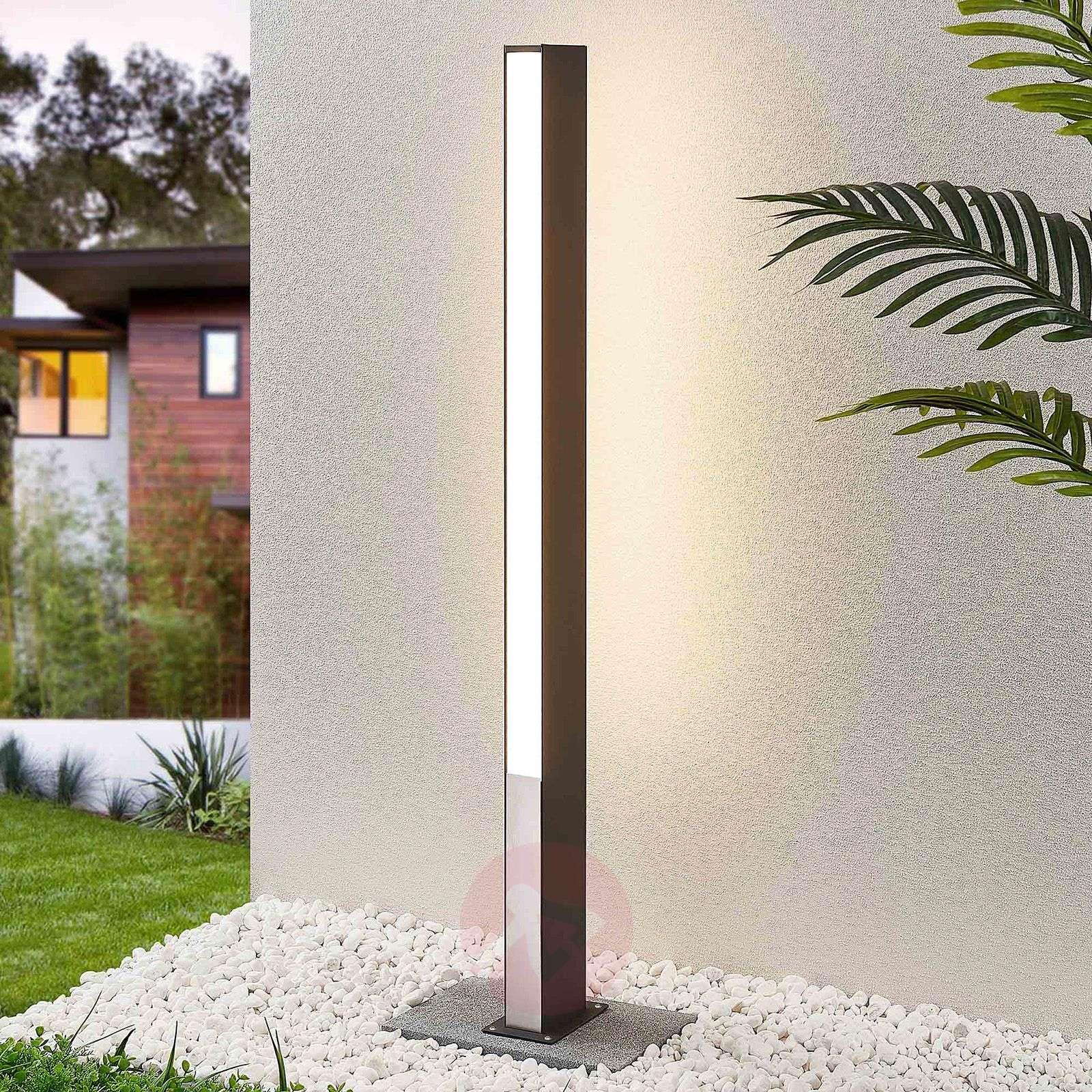 Lucande Aegisa-LED-pylväsvalaisin, 110 cm-9619185-02