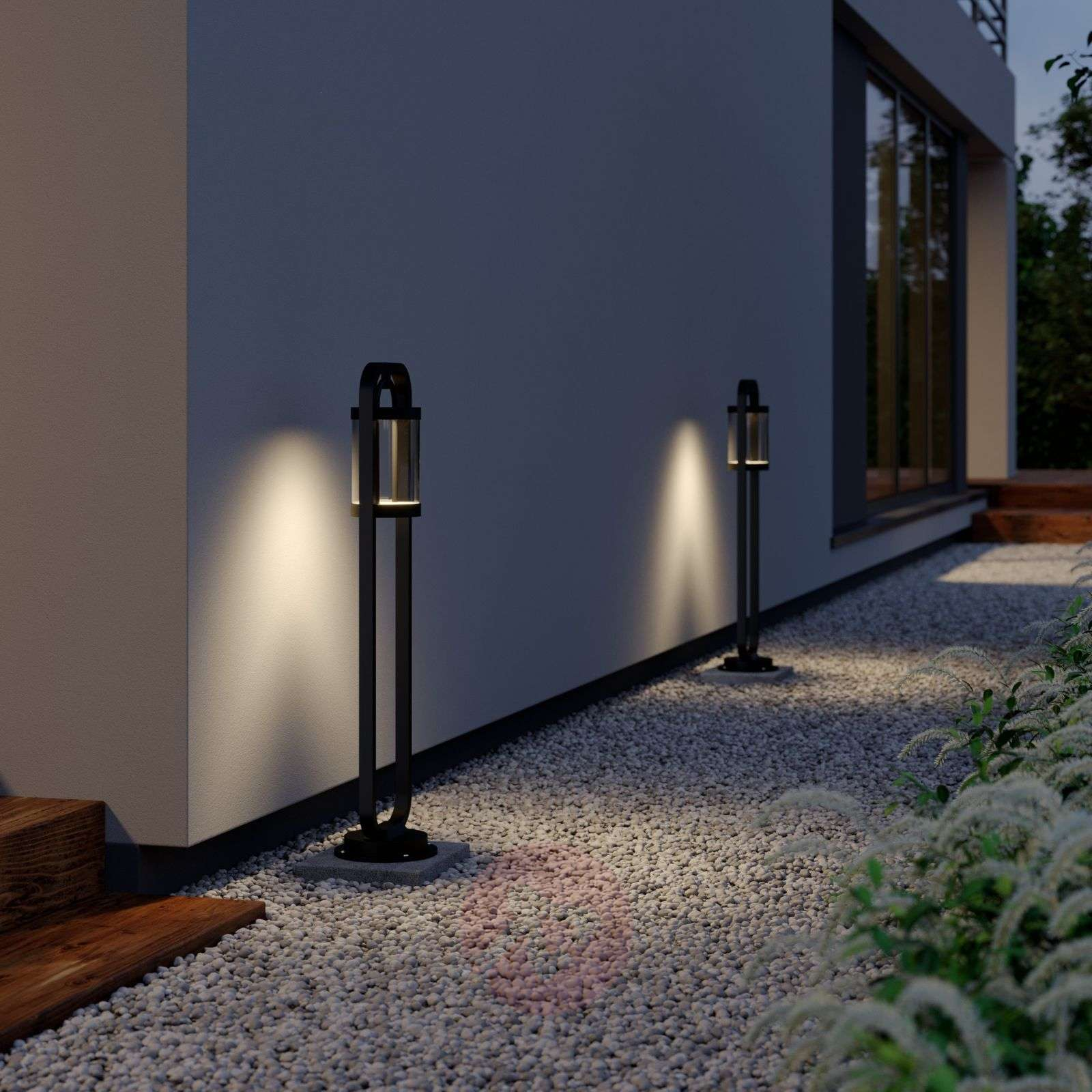 Lucande Caius LED-pylväsvalaisin