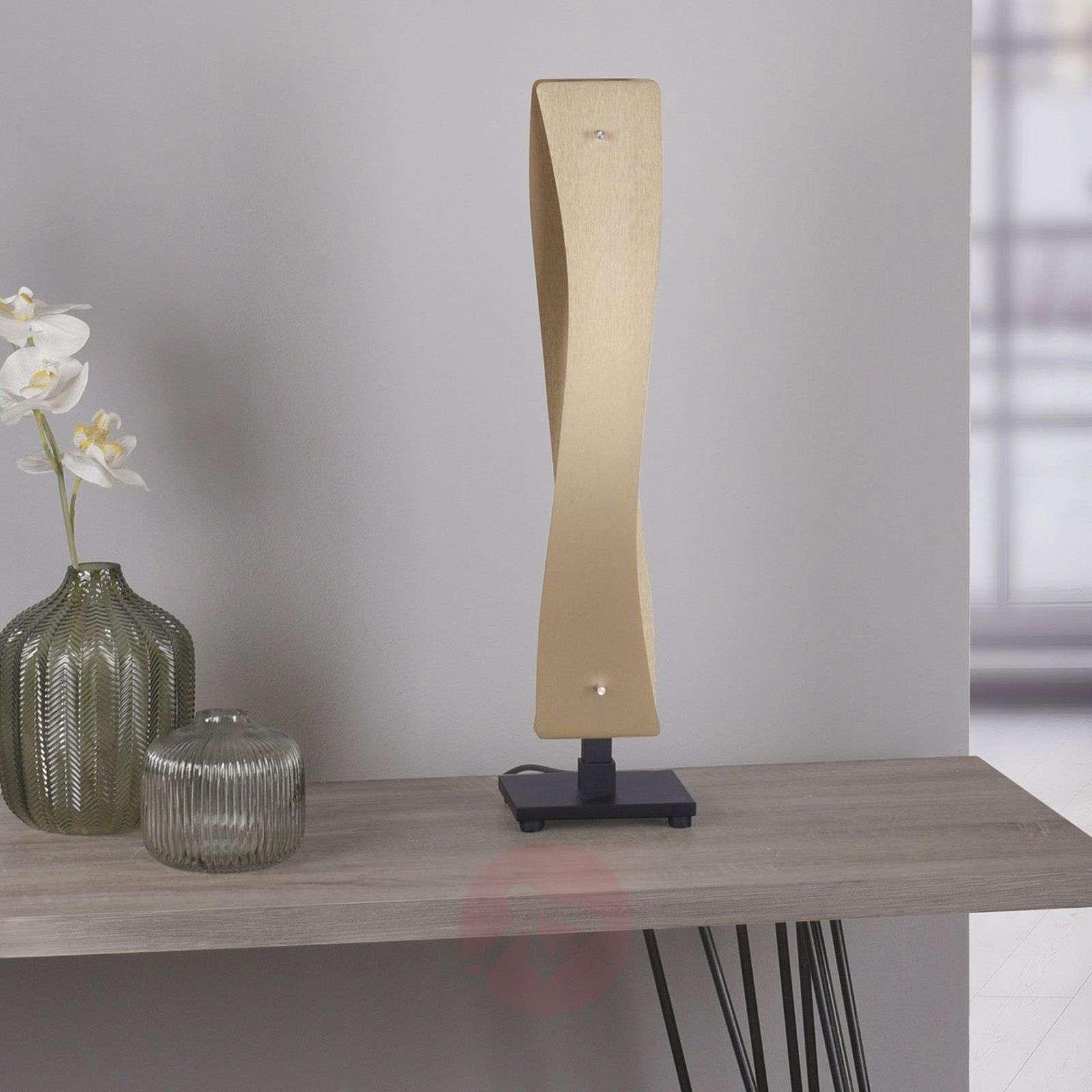 Lucande Lian LED-pöytävalaisin messinki, musta
