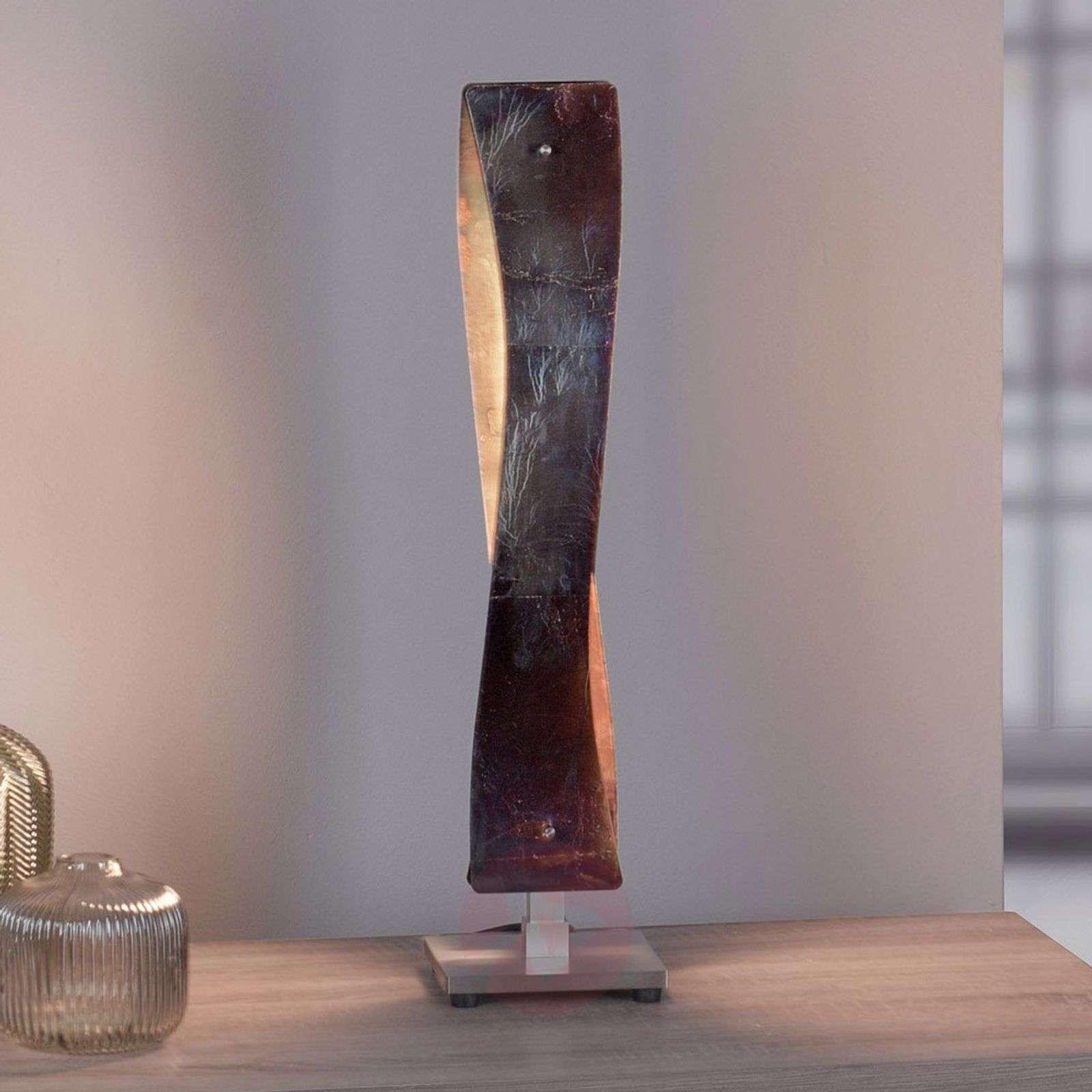 Lucande Lian LED-pöytävalaisin, oksidoitu kulta