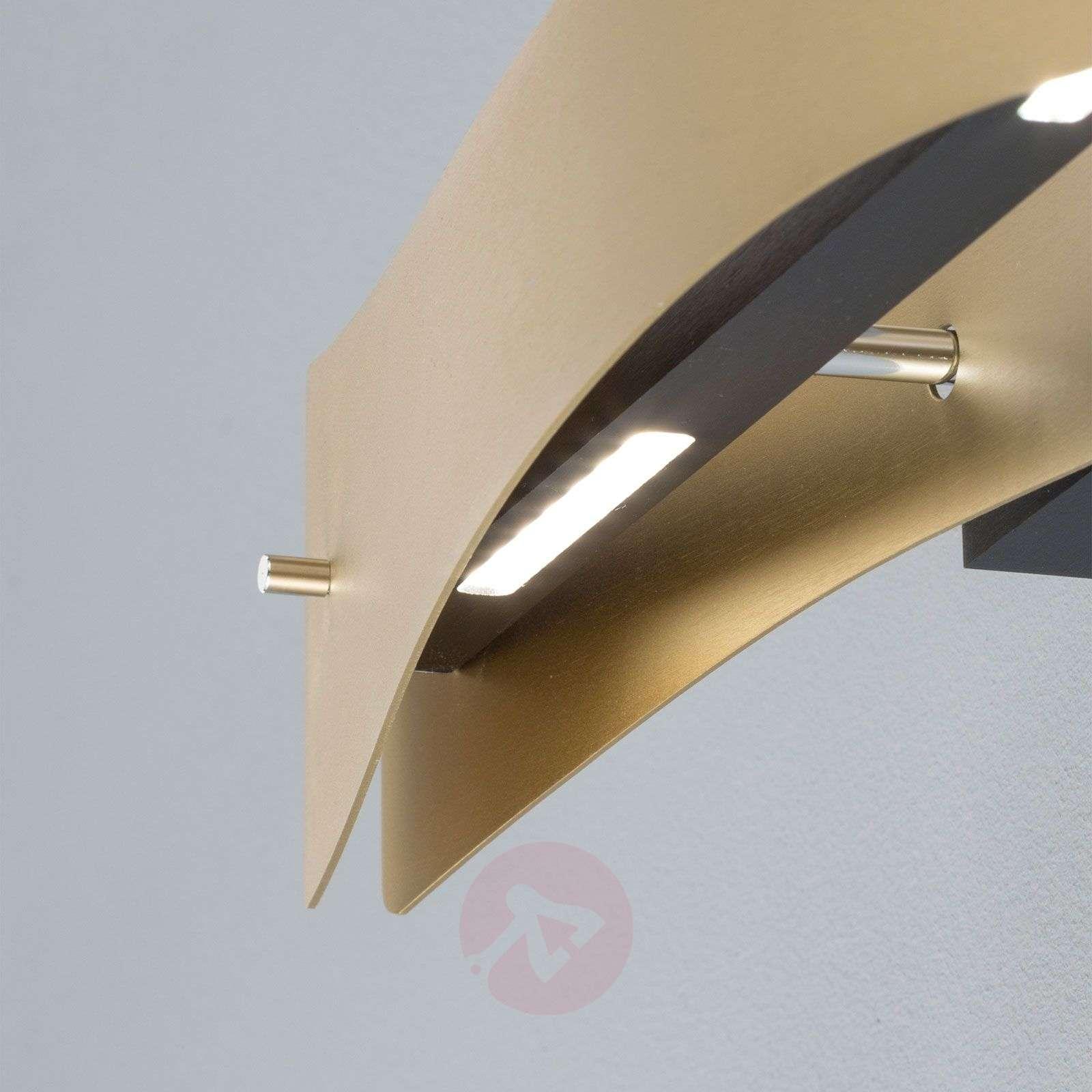 Lucande Lian LED-seinävalaisin, messinki, musta-6722544-02