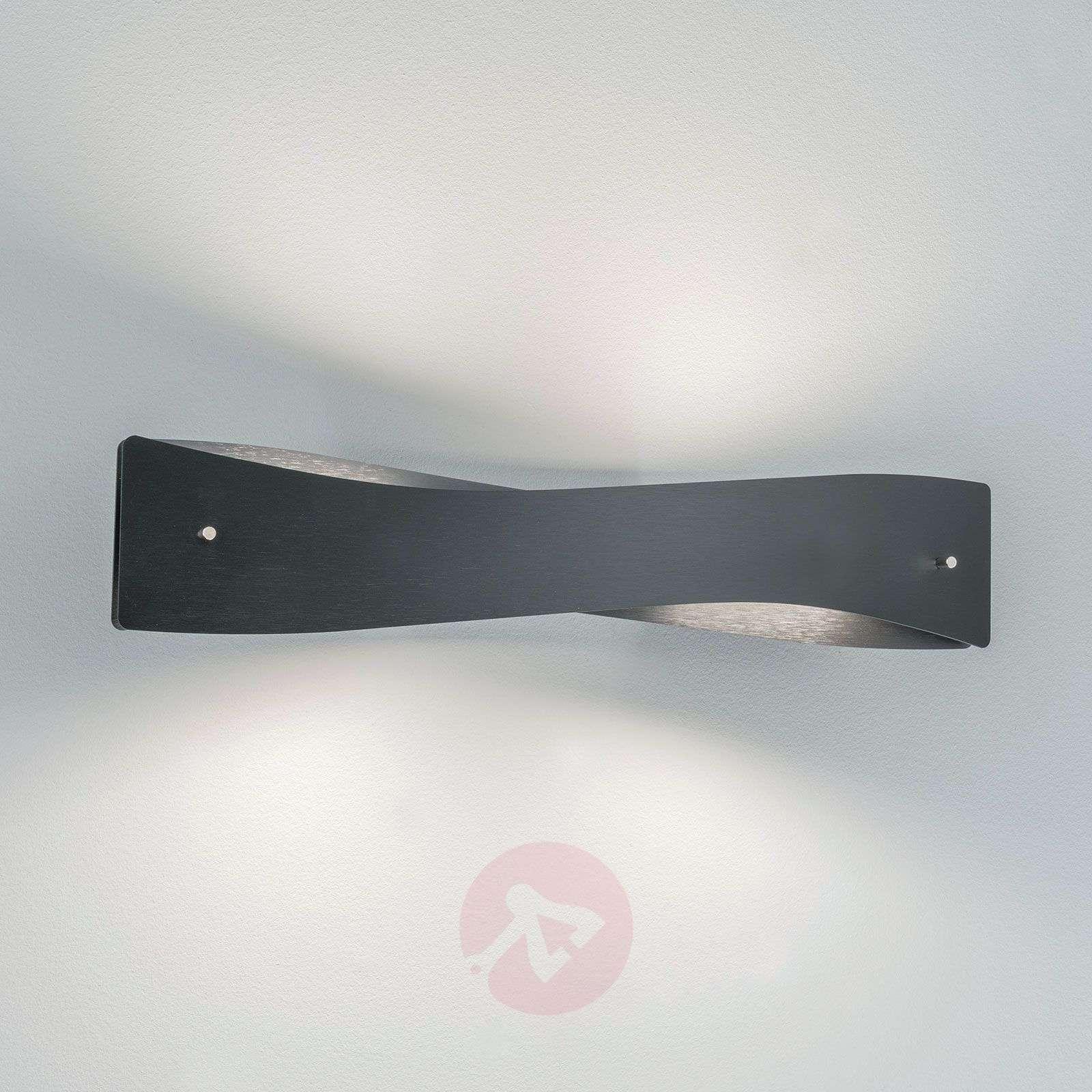 Lucande Lian LED-seinävalaisin, musta, alumiini-6722549-02