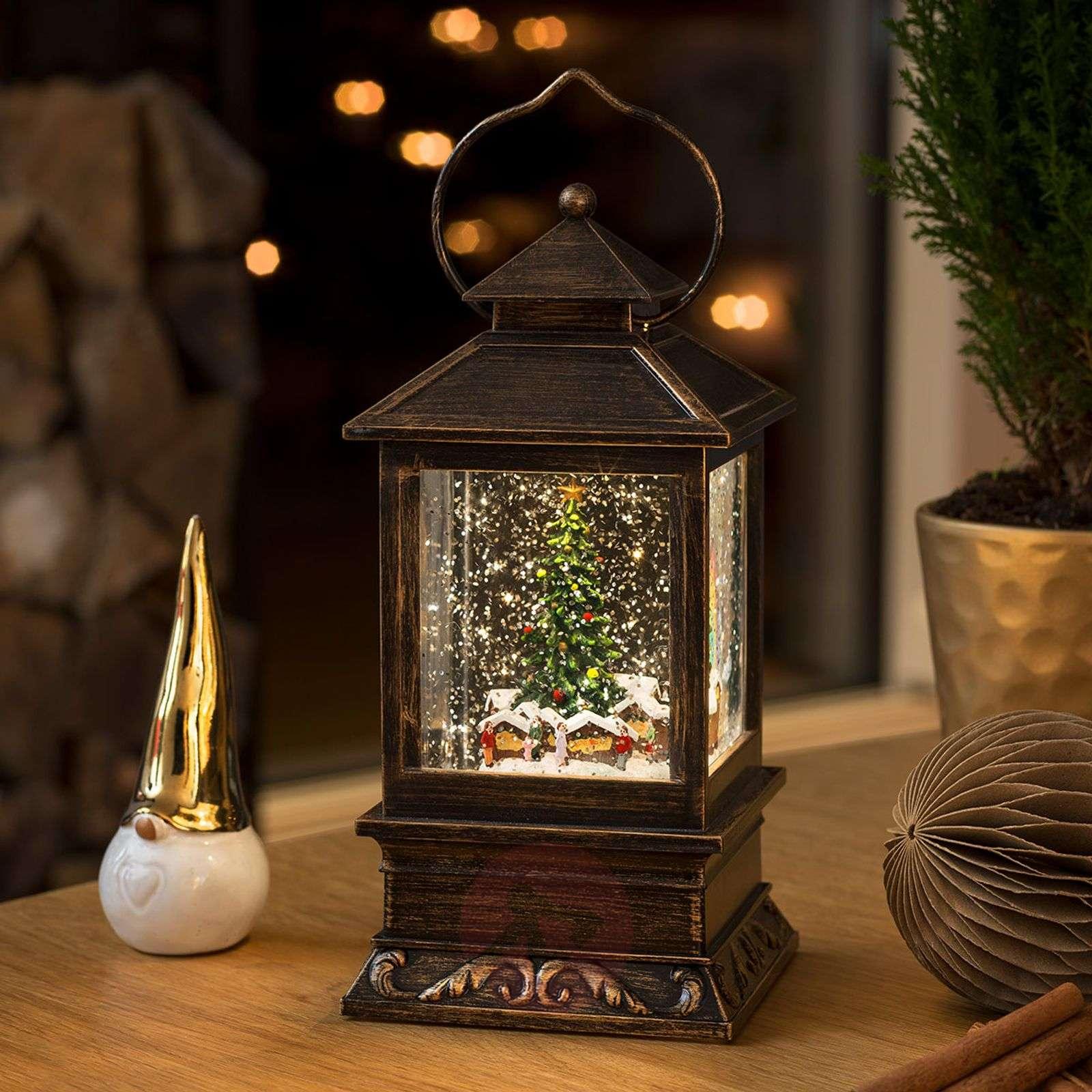 Lumilyhty joulumarkkinat, LED, vedellä täytetty-5524860-01