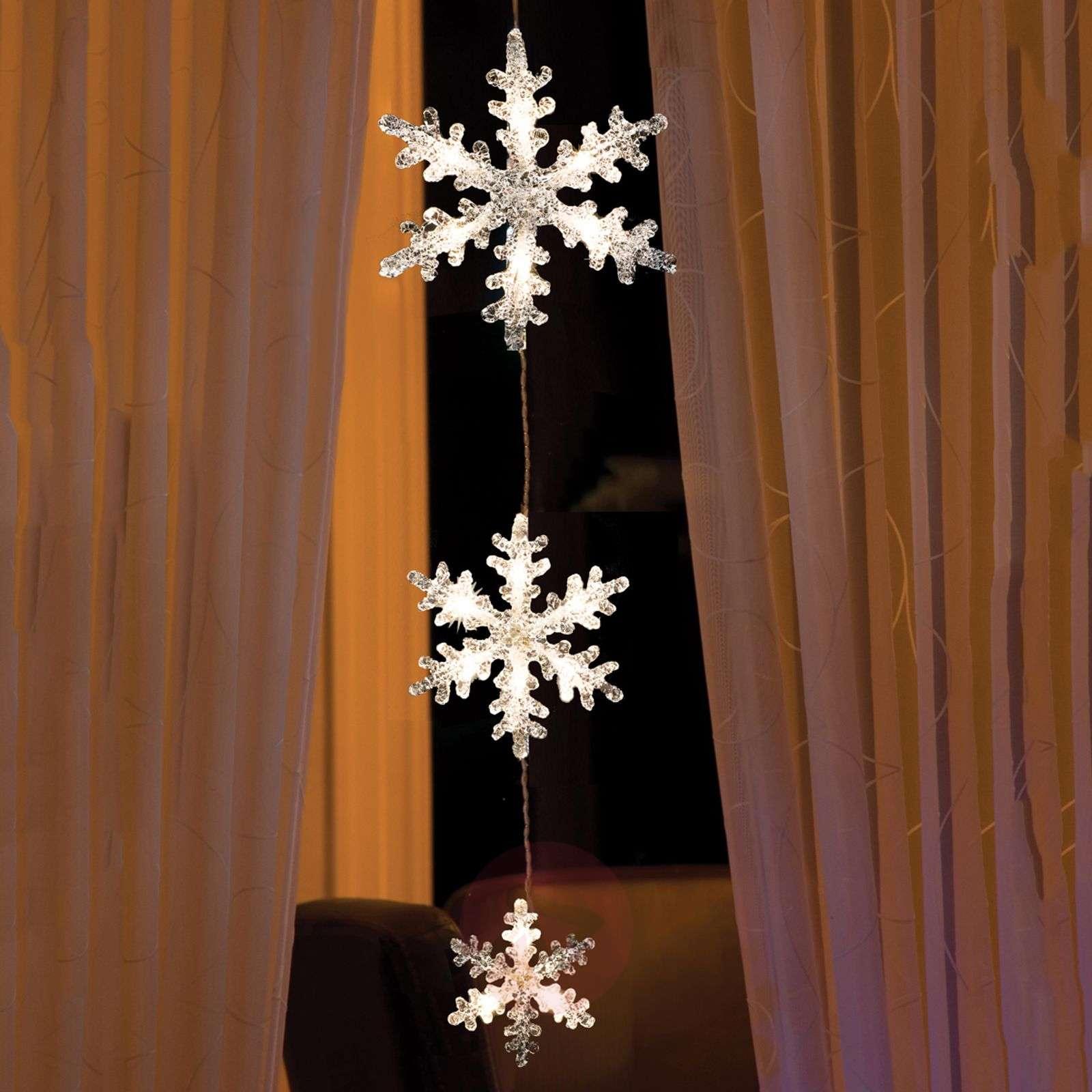 Lumoava LED-valoketju Lumihiutaleet-5524631-01