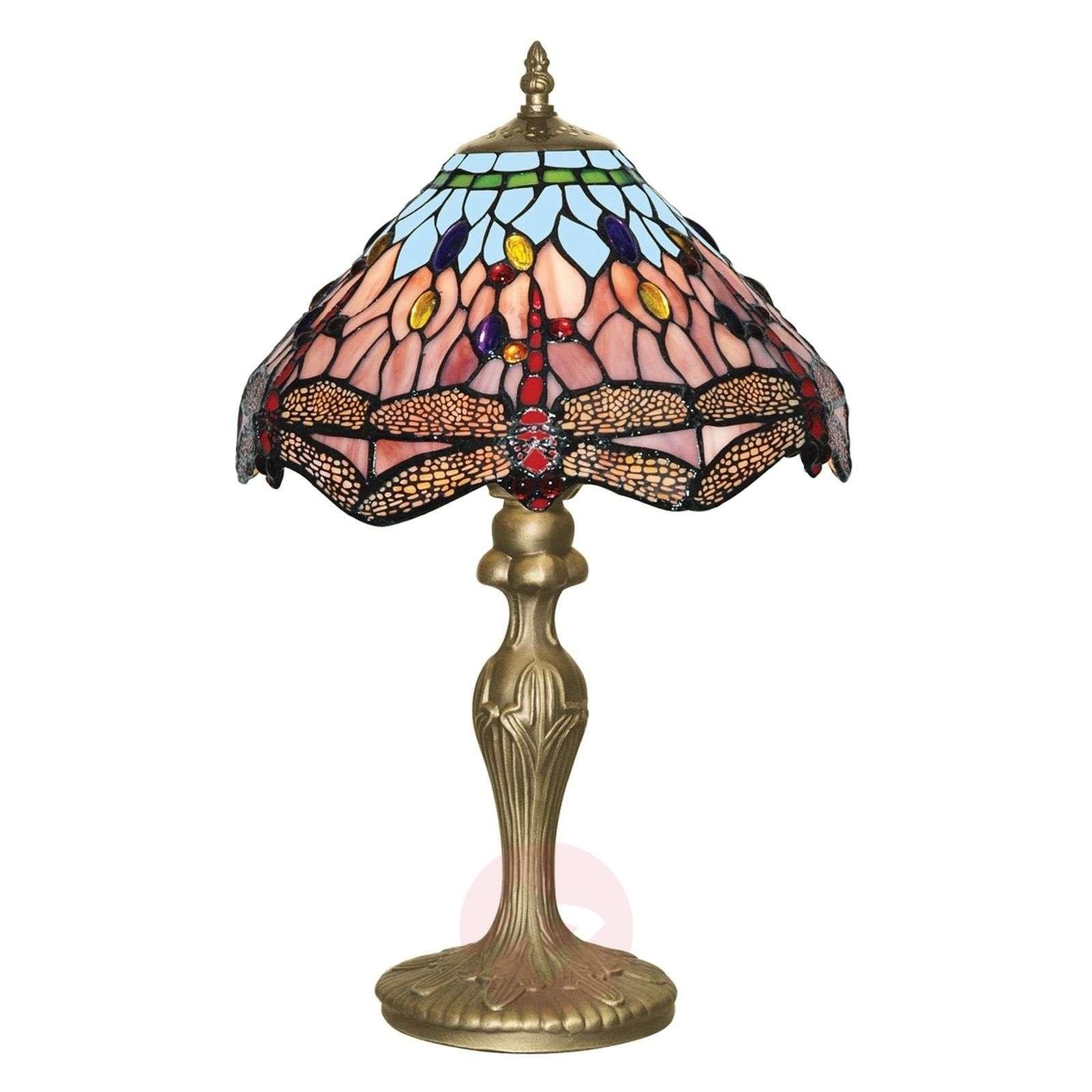 Lumoava Tiffany-tyylinen DRAGONFLY-pöytävalaisin-8570407-02