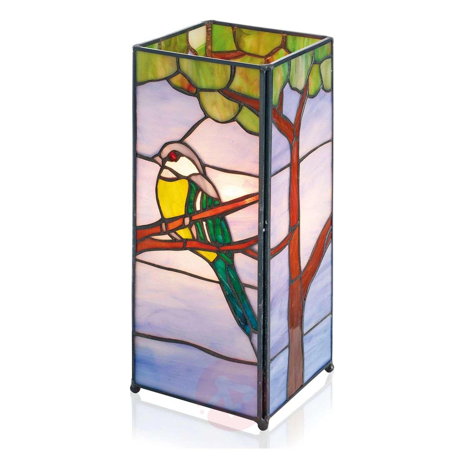 Lumoava Tiffany-tyylinen Serafina-pöytävalaisin-1032338-01