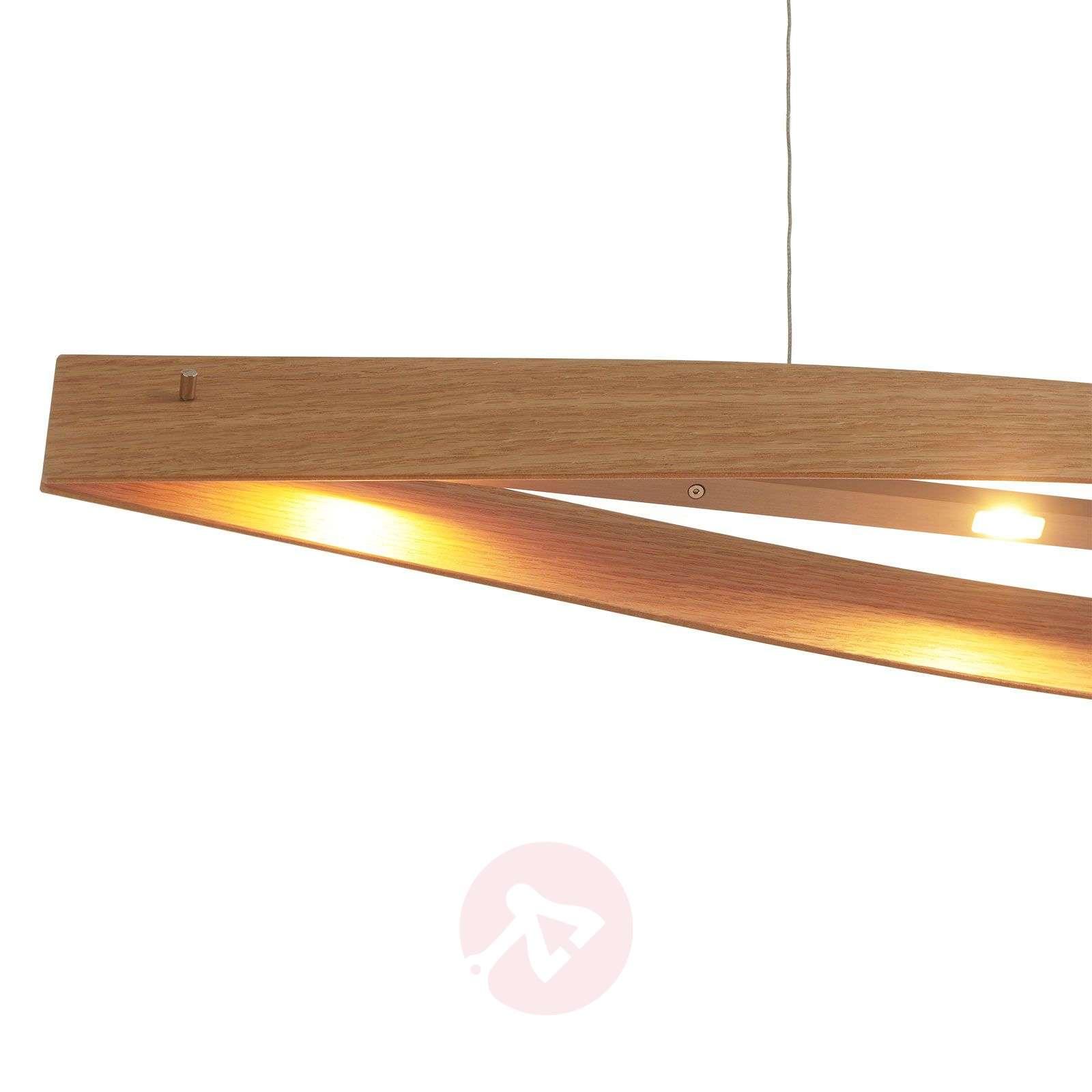 Luonnon tammi LED-valaisin Malu puuta-6722284-01